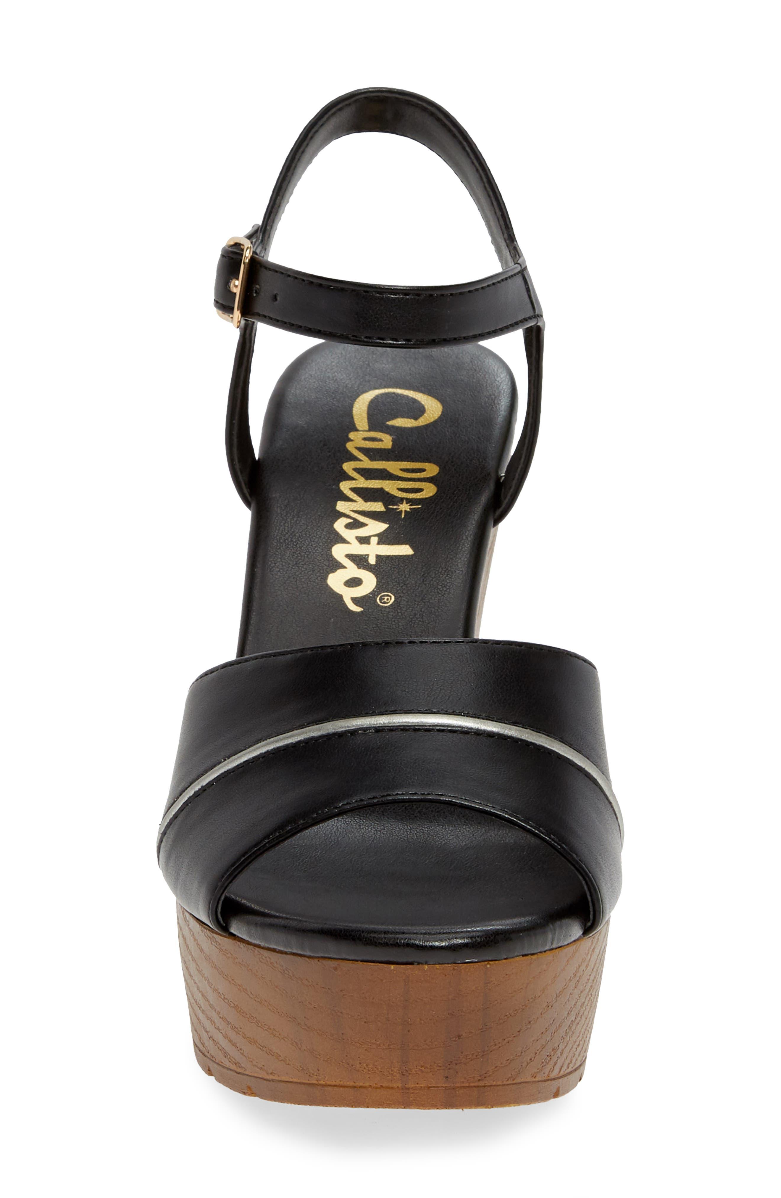 CALLISTO, Masalla Platform Wedge Sandal, Alternate thumbnail 4, color, BLACK FAUX LEATHER