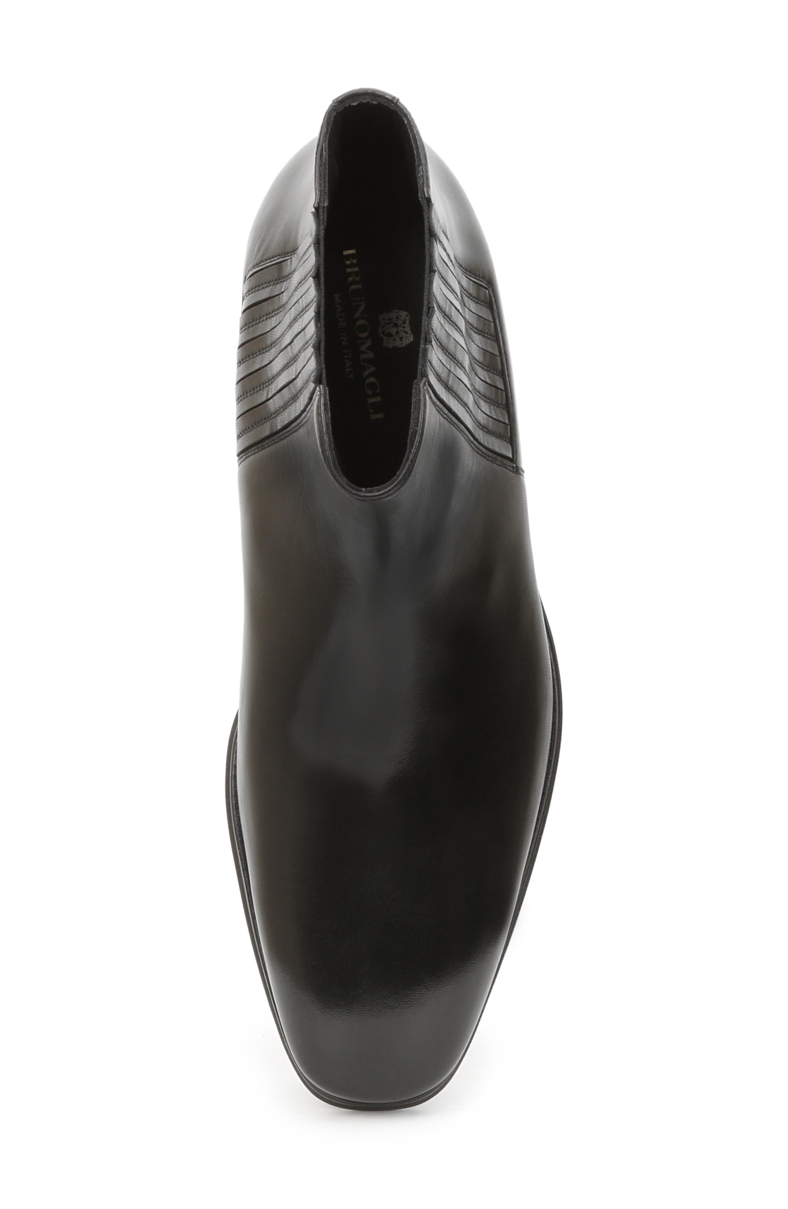 BRUNO MAGLI, Rezzo Chelsea Boot, Alternate thumbnail 5, color, BLACK