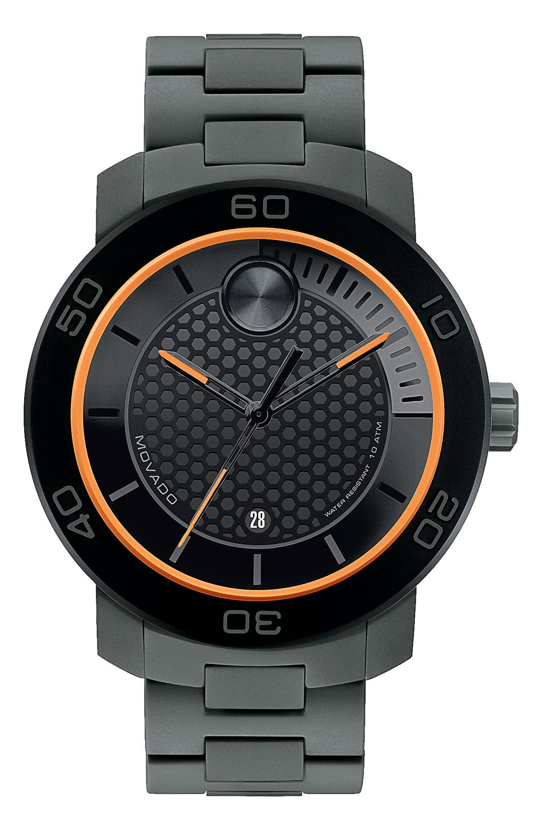 MOVADO, 'Bold' Bracelet Watch, 46mm, Main thumbnail 1, color, 001