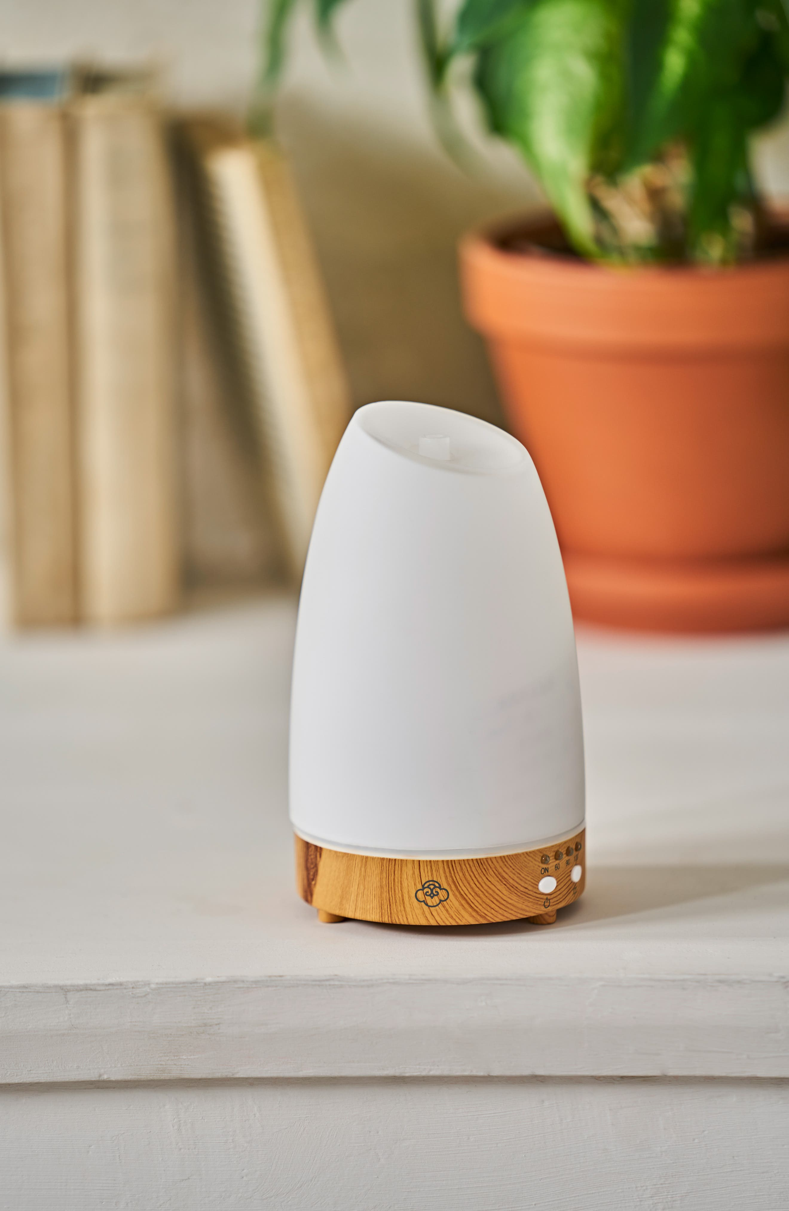 SERENE HOUSE, Ultrasonic Cool Mist Aromatherapy Diffuser, Alternate thumbnail 3, color, WHITE