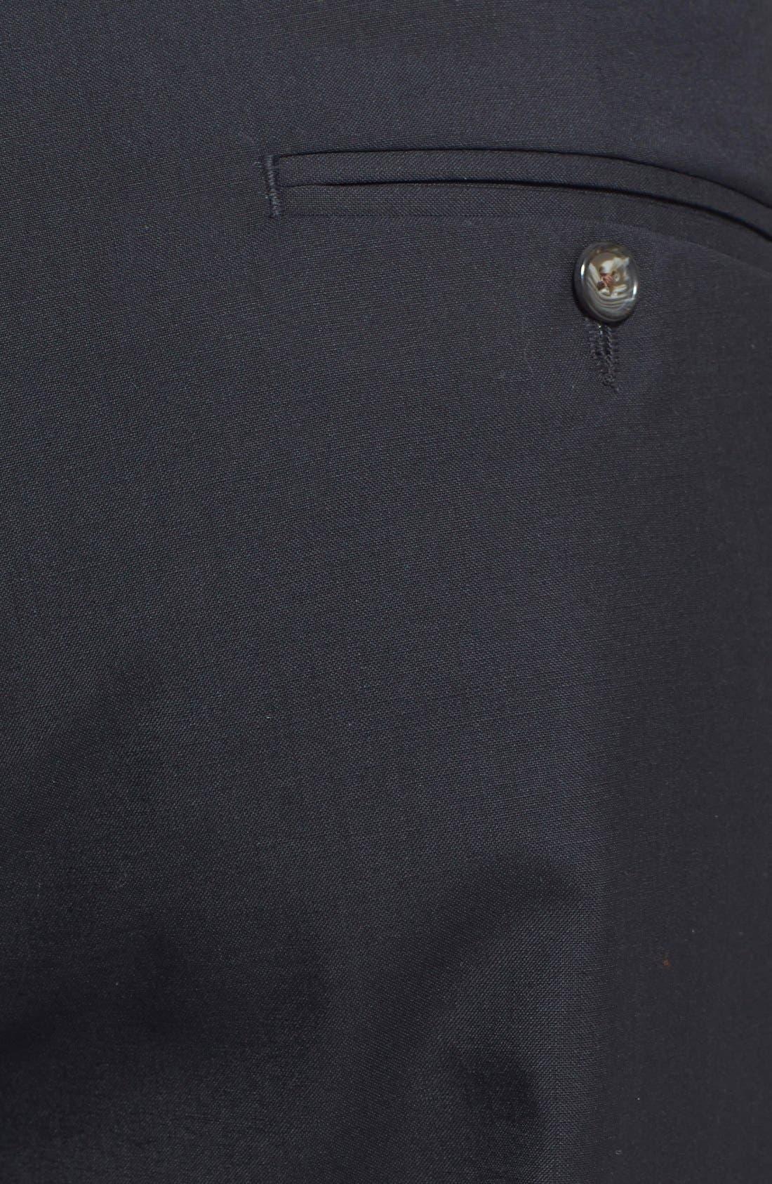 BERLE, Self Sizer Waist Pleated Trousers, Alternate thumbnail 2, color, BLACK