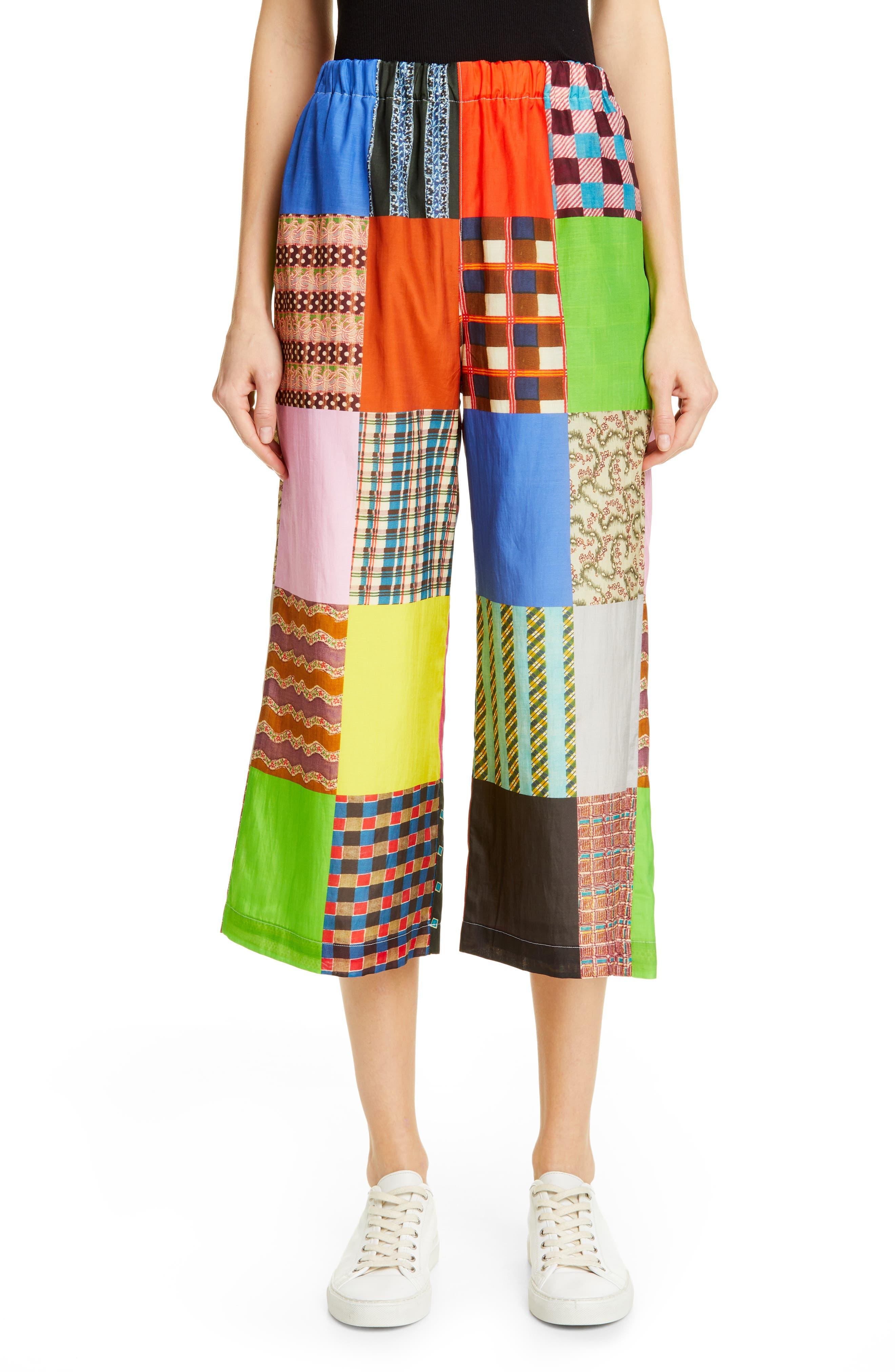 TRICOT COMME DES GARÇONS Patchwork Print Culottes, Main, color, B PATTERN