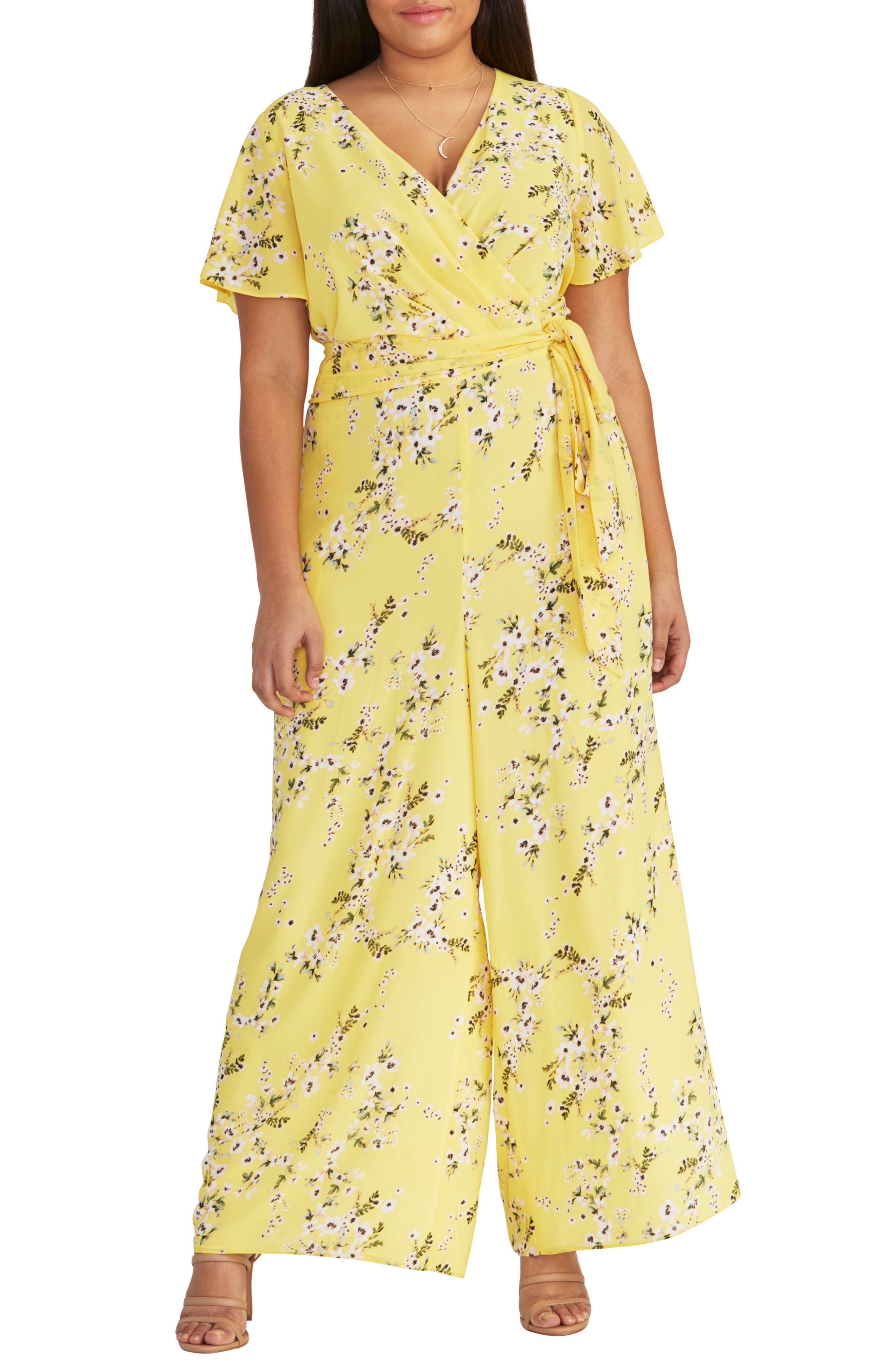 Plus Size Rachel Rachel Roy Floral Tie Waist Jumpsuit, Blue