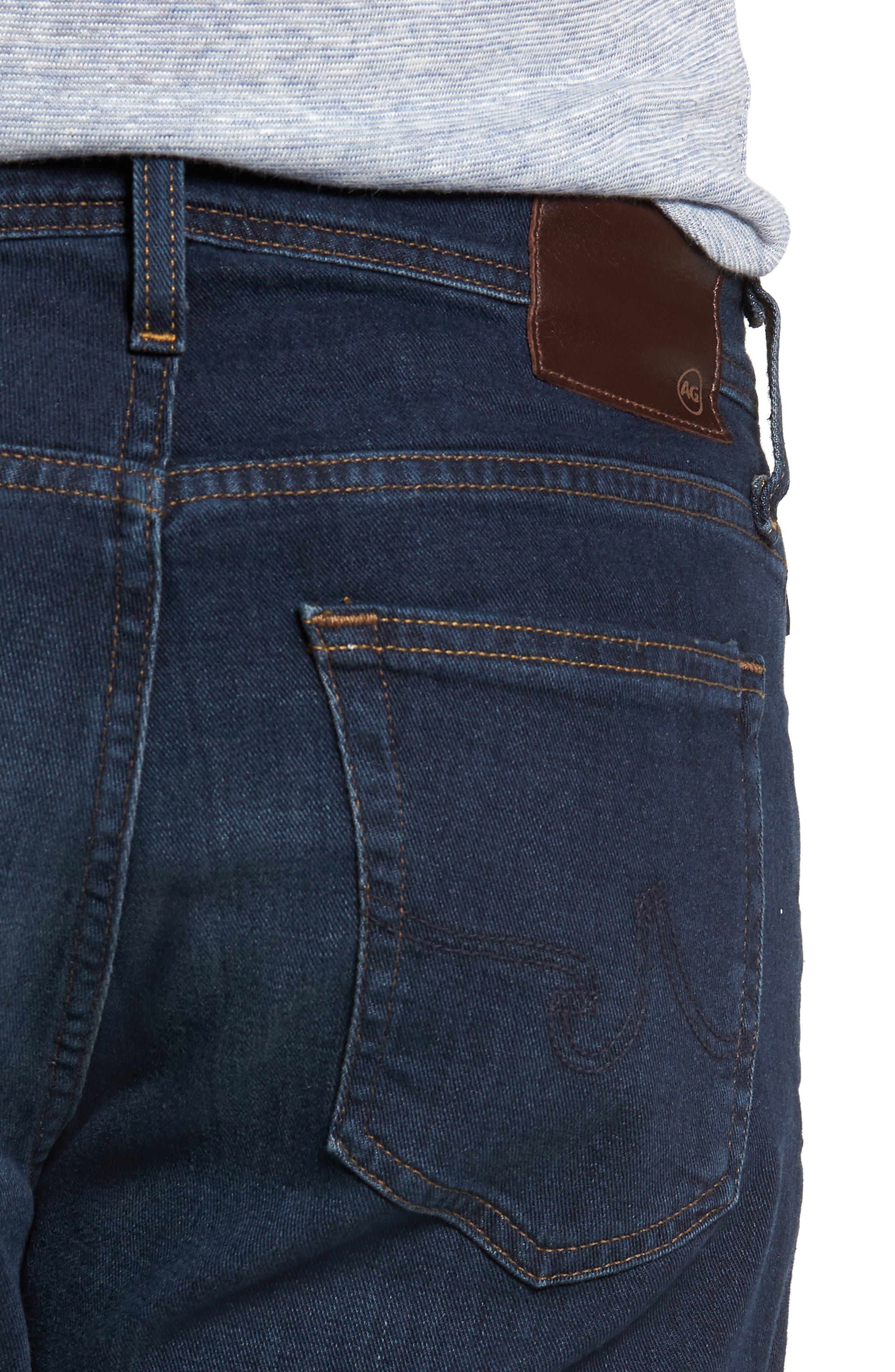 AG, Ives Straight Leg Jeans, Alternate thumbnail 5, color, COVET