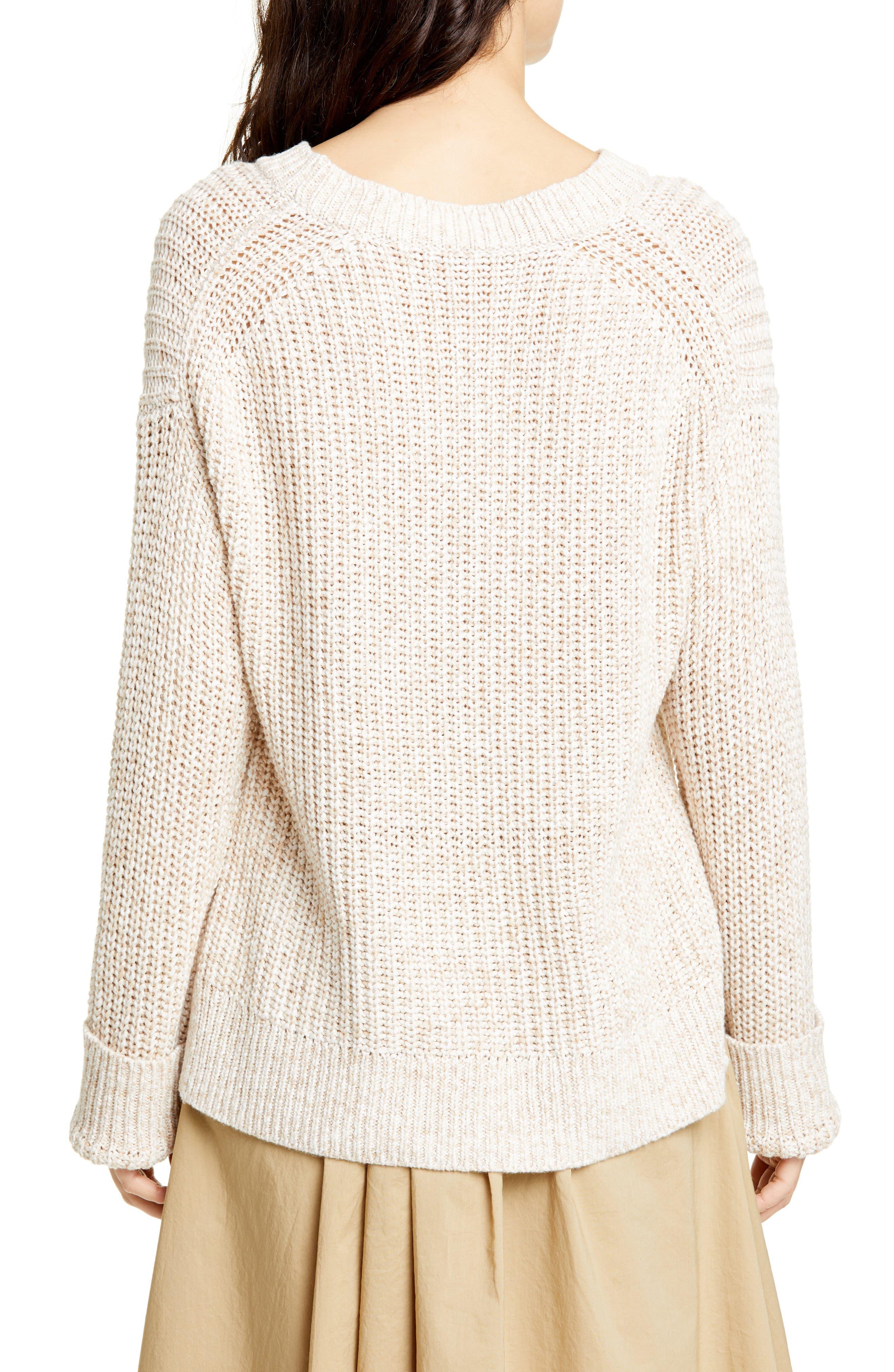 ALEX MILL, Mélange Sweater, Alternate thumbnail 2, color, LIGHT KHAKI