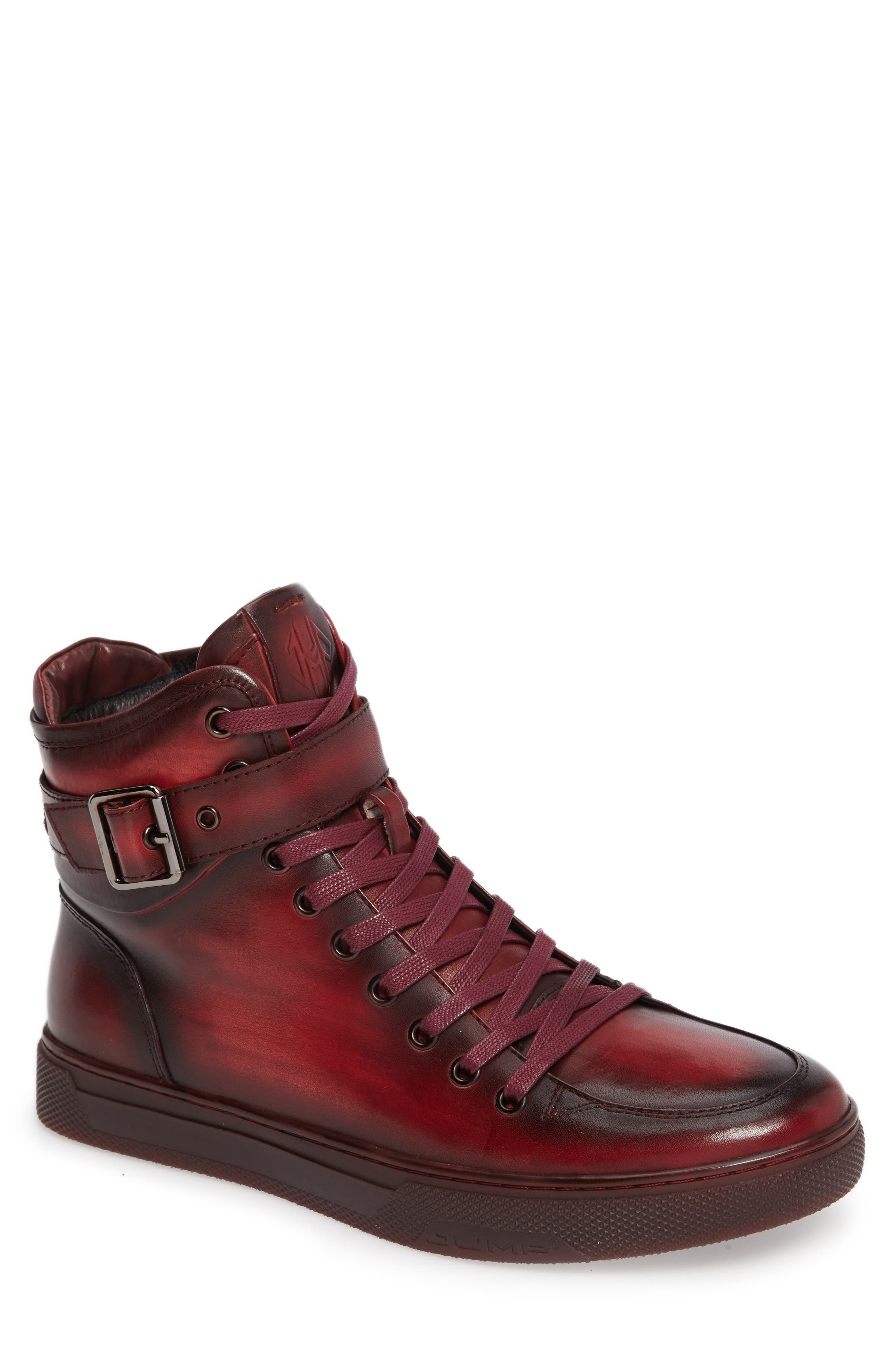 JUMP Sullivan High Top Sneaker, Main, color, RUBY