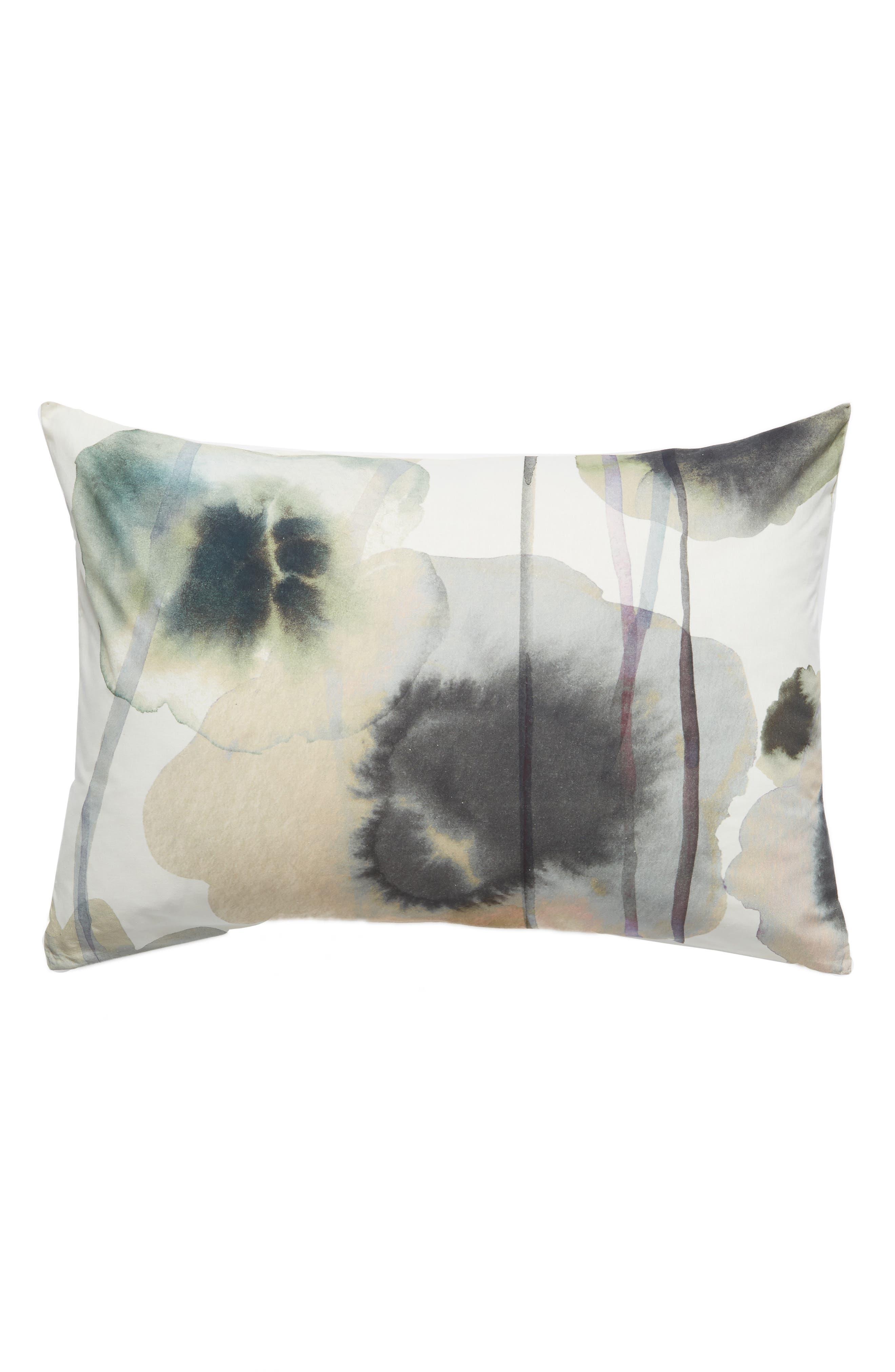 TREASURE & BOND Floral Print Sham, Main, color, WHITE WHISPER