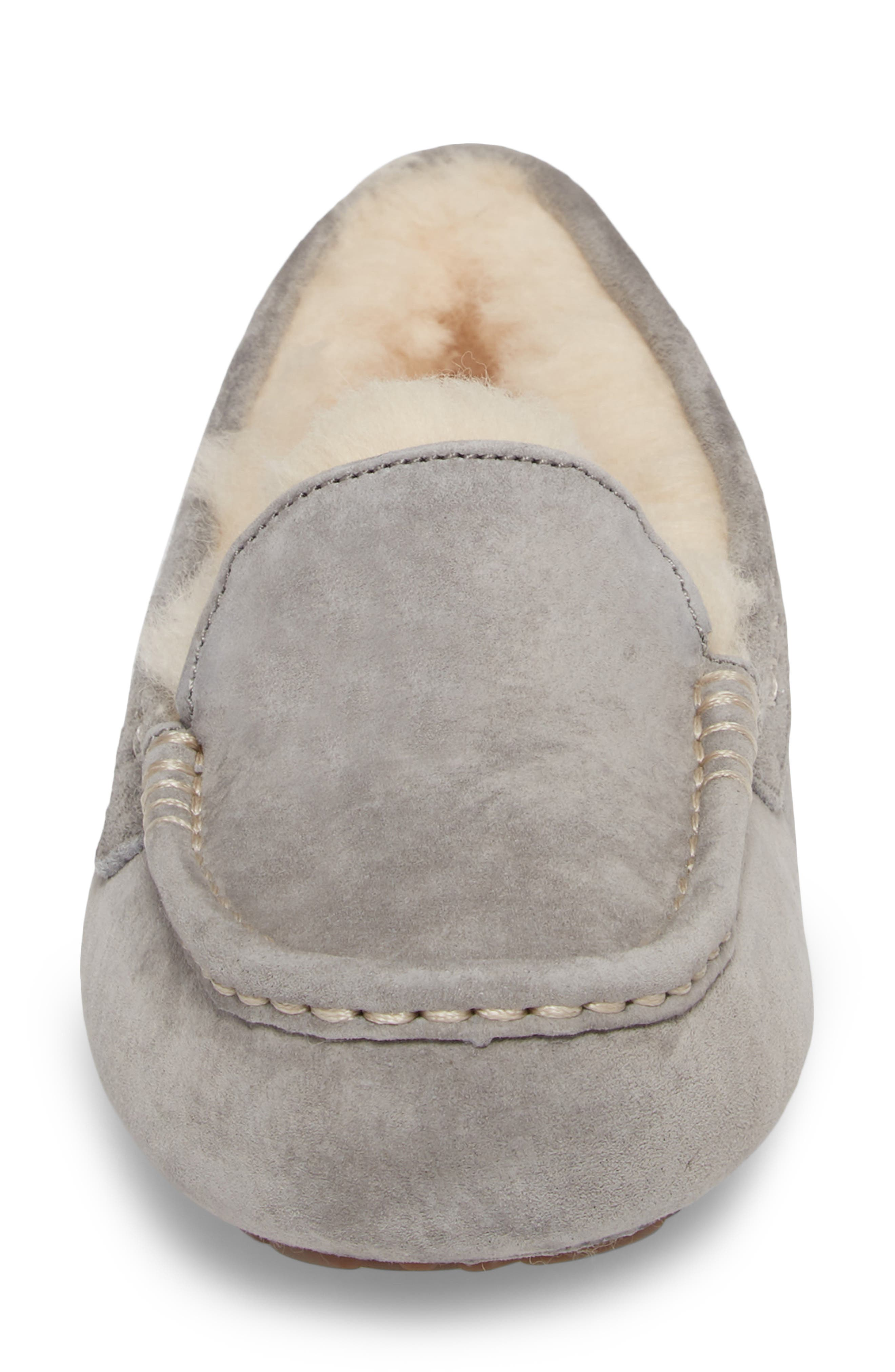 UGG<SUP>®</SUP>, Ansley Water Resistant Slipper, Alternate thumbnail 4, color, LIGHT GREY