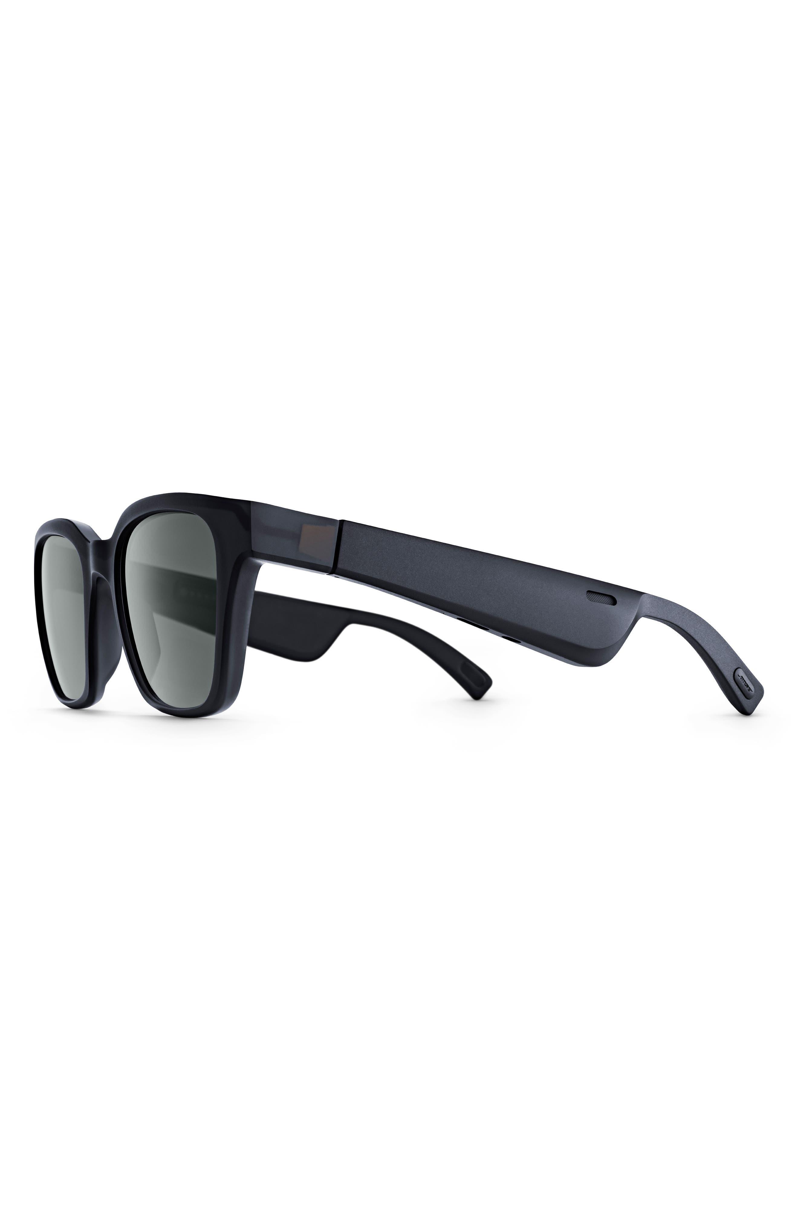 BOSE<SUP>®</SUP>, Frames Alto 52mm Audio Sunglasses, Alternate thumbnail 2, color, BLACK