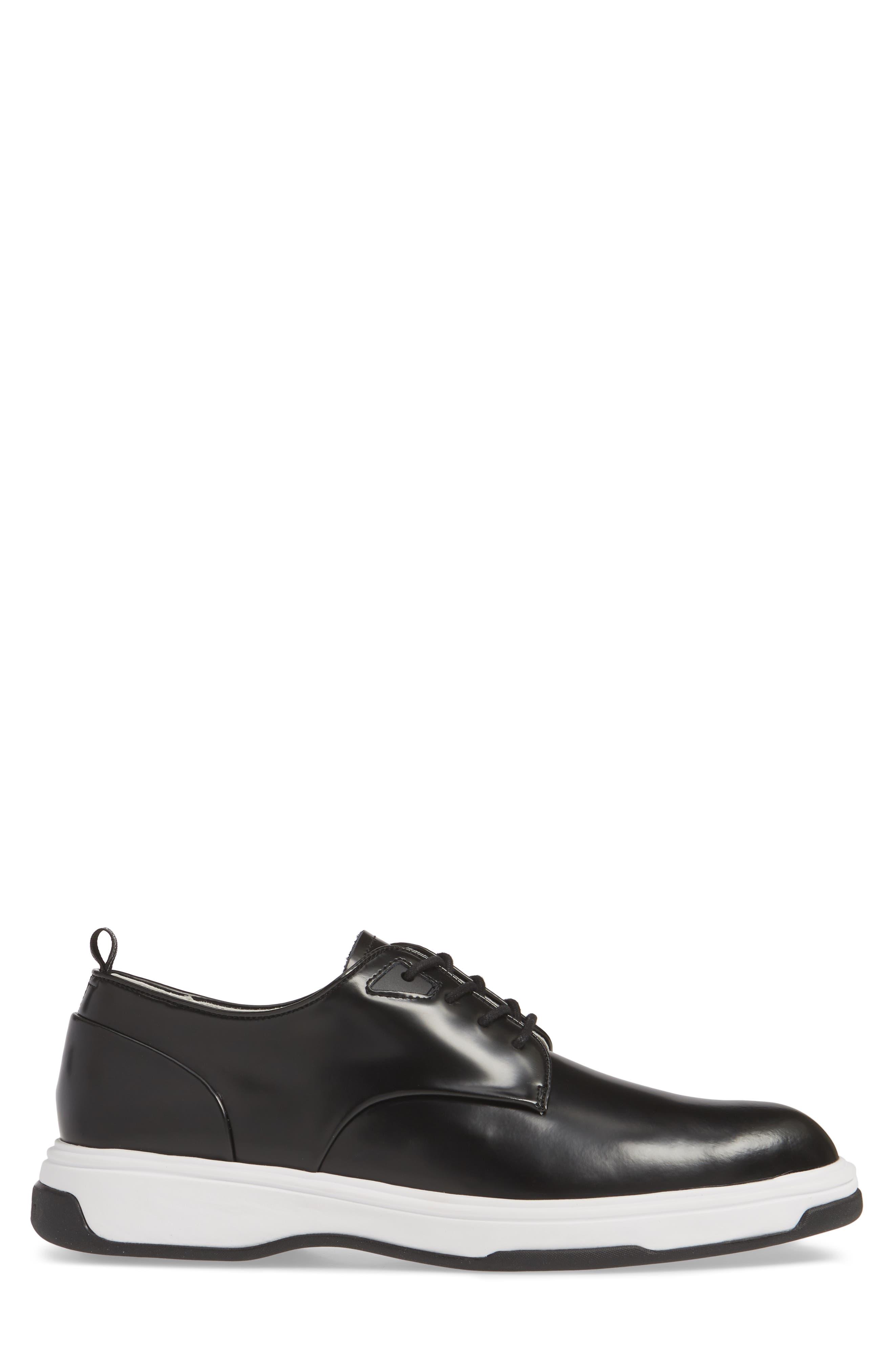 CALVIN KLEIN, Patsy Sneaker, Alternate thumbnail 3, color, BLACK