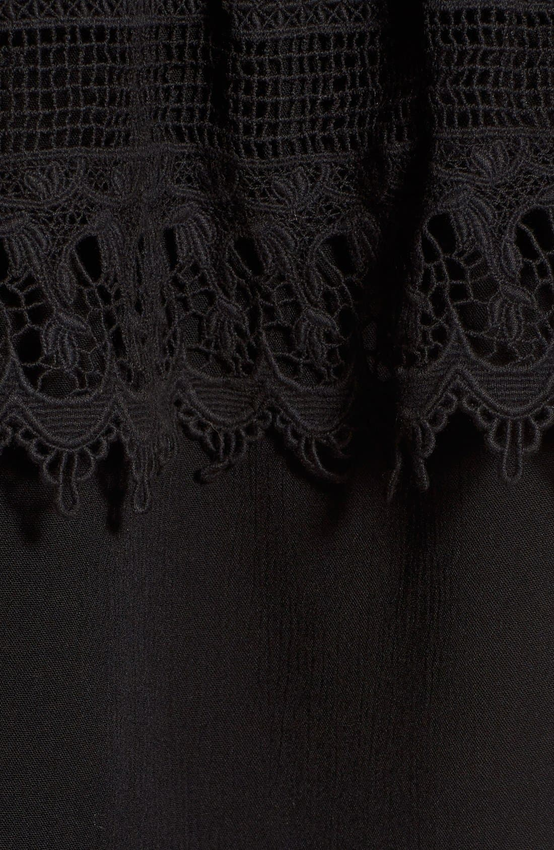 SOCIALITE, Crochet Off the Shoulder Top, Alternate thumbnail 2, color, 005