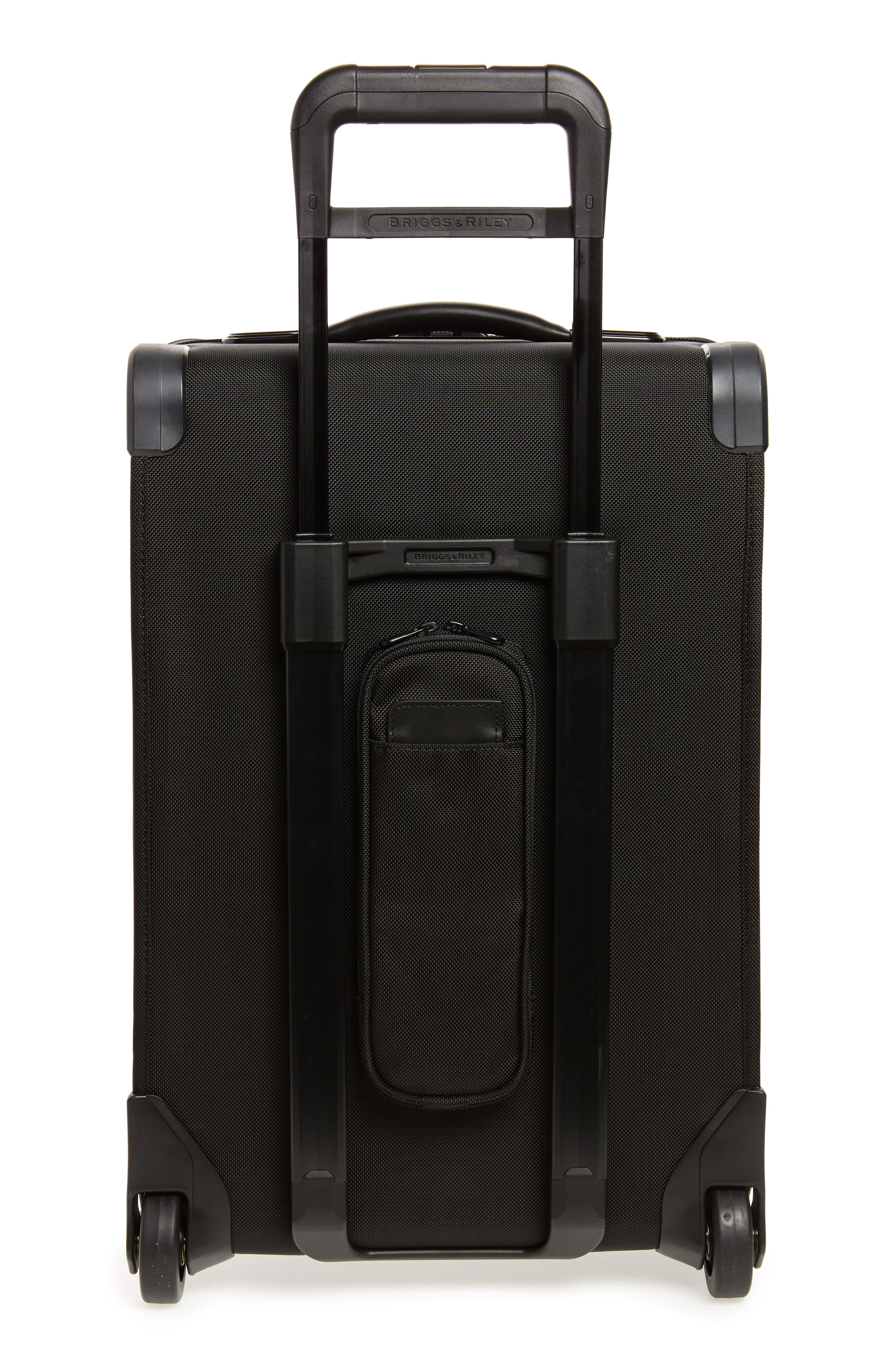 BRIGGS & RILEY, Baseline Domestic Expandable 22-Inch Rolling Carry-On, Alternate thumbnail 4, color, BLACK