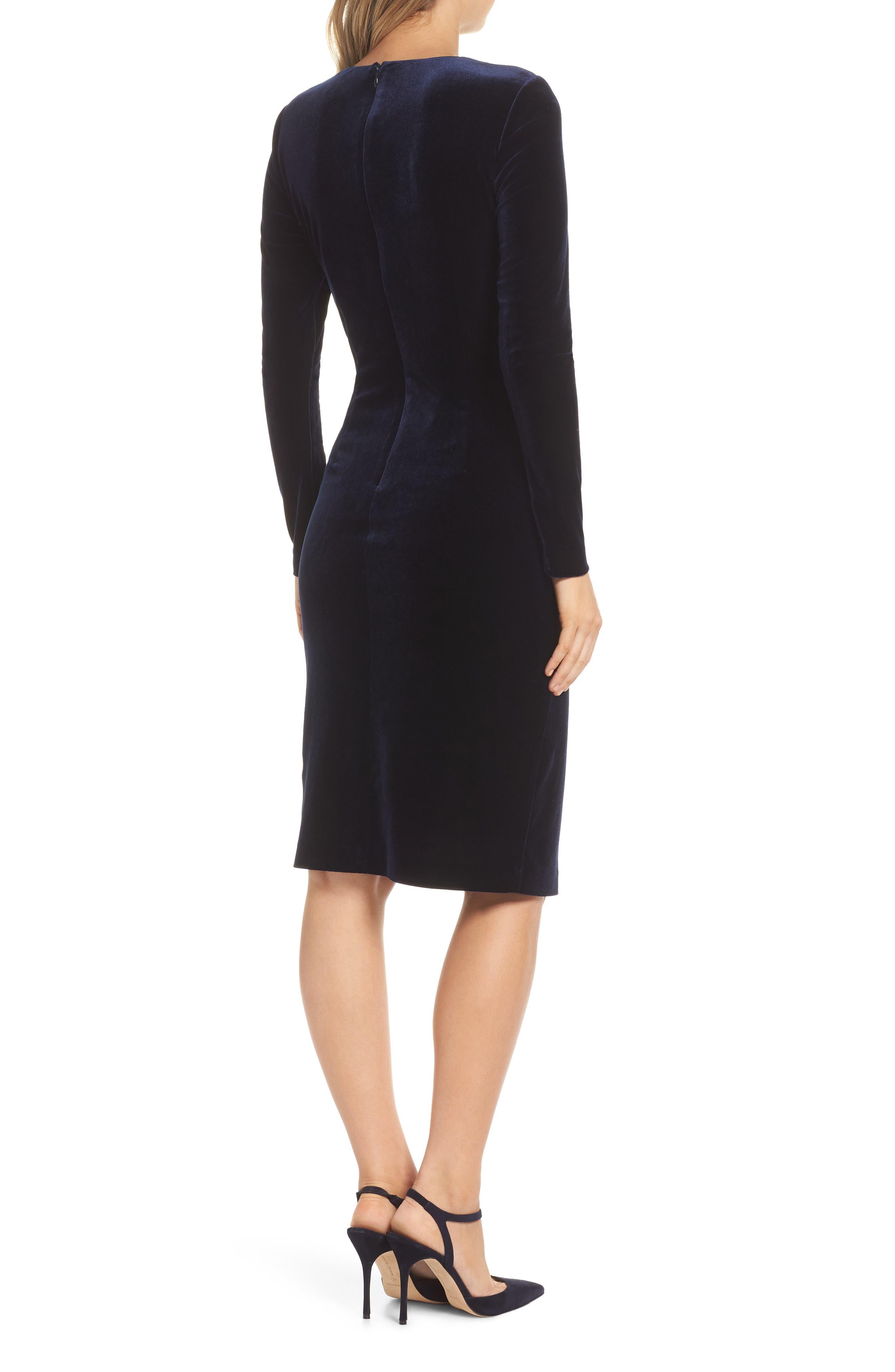 HARPER ROSE, Long Sleeve Body-Con Dress, Alternate thumbnail 2, color, 410