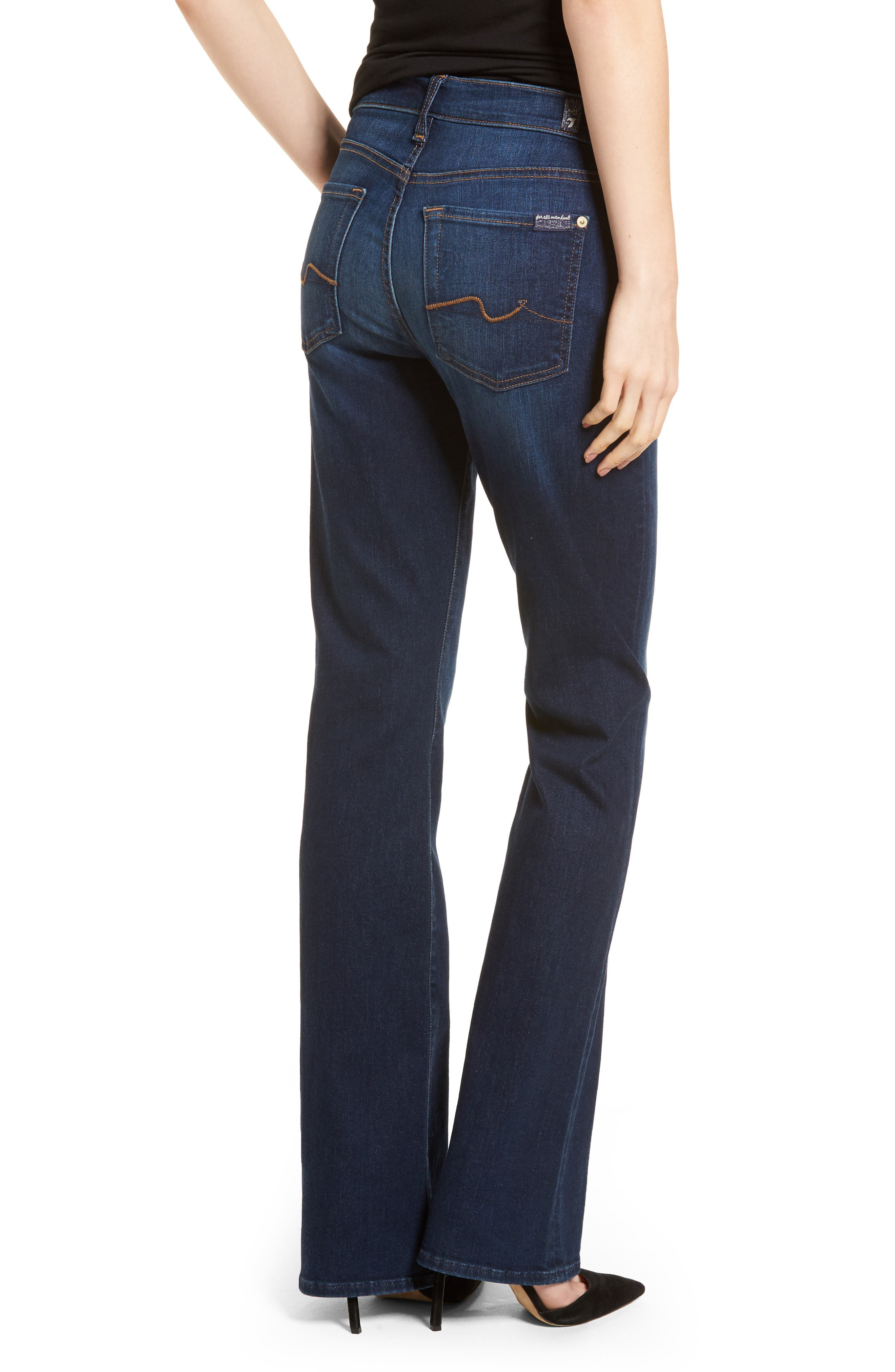 7 FOR ALL MANKIND<SUP>®</SUP>, b(air) Tailorless Iconic Bootcut Jeans, Alternate thumbnail 2, color, MORENO