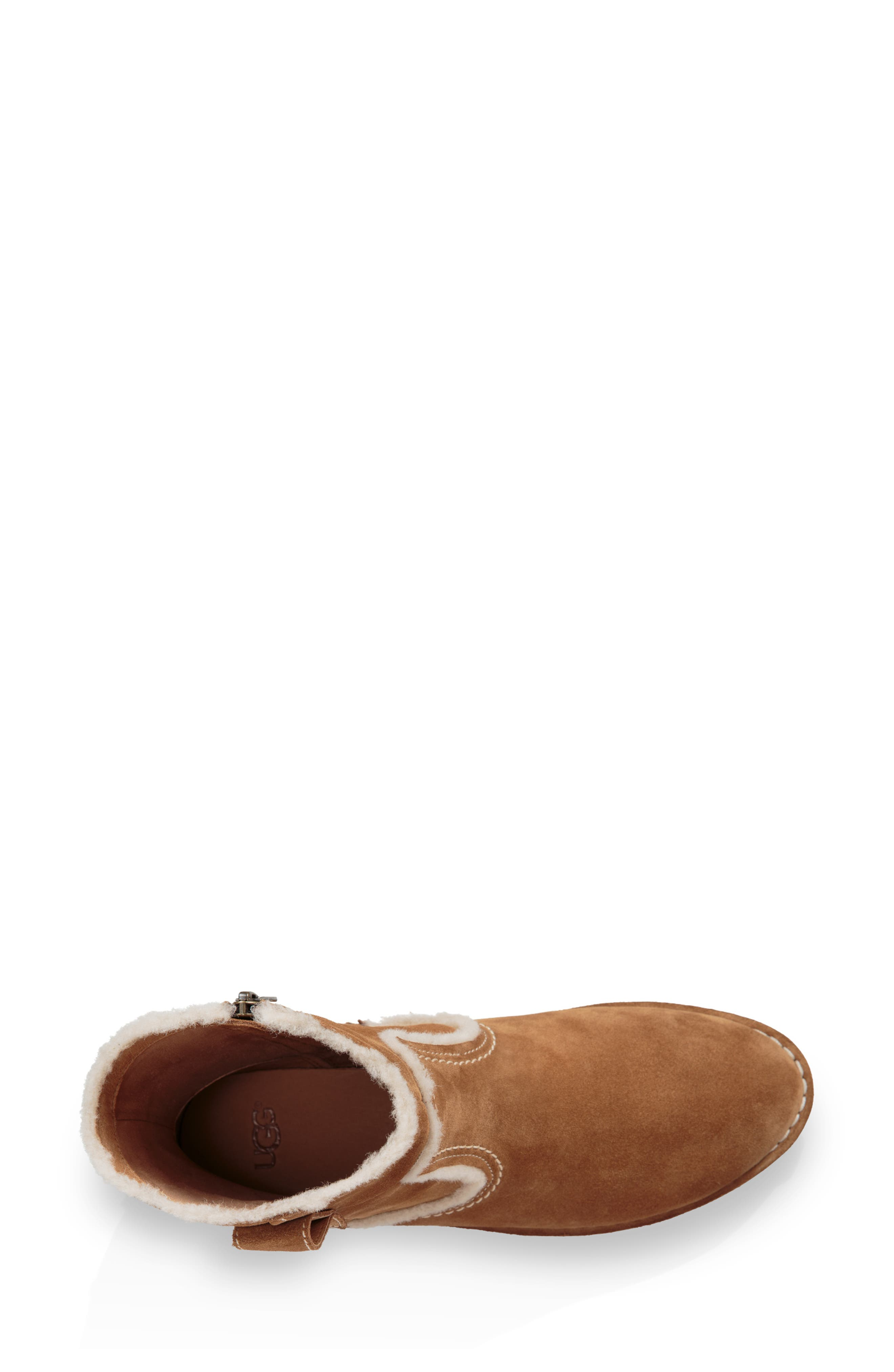 UGG<SUP>®</SUP>, Catica Boot, Alternate thumbnail 4, color, CHESTNUT SUEDE