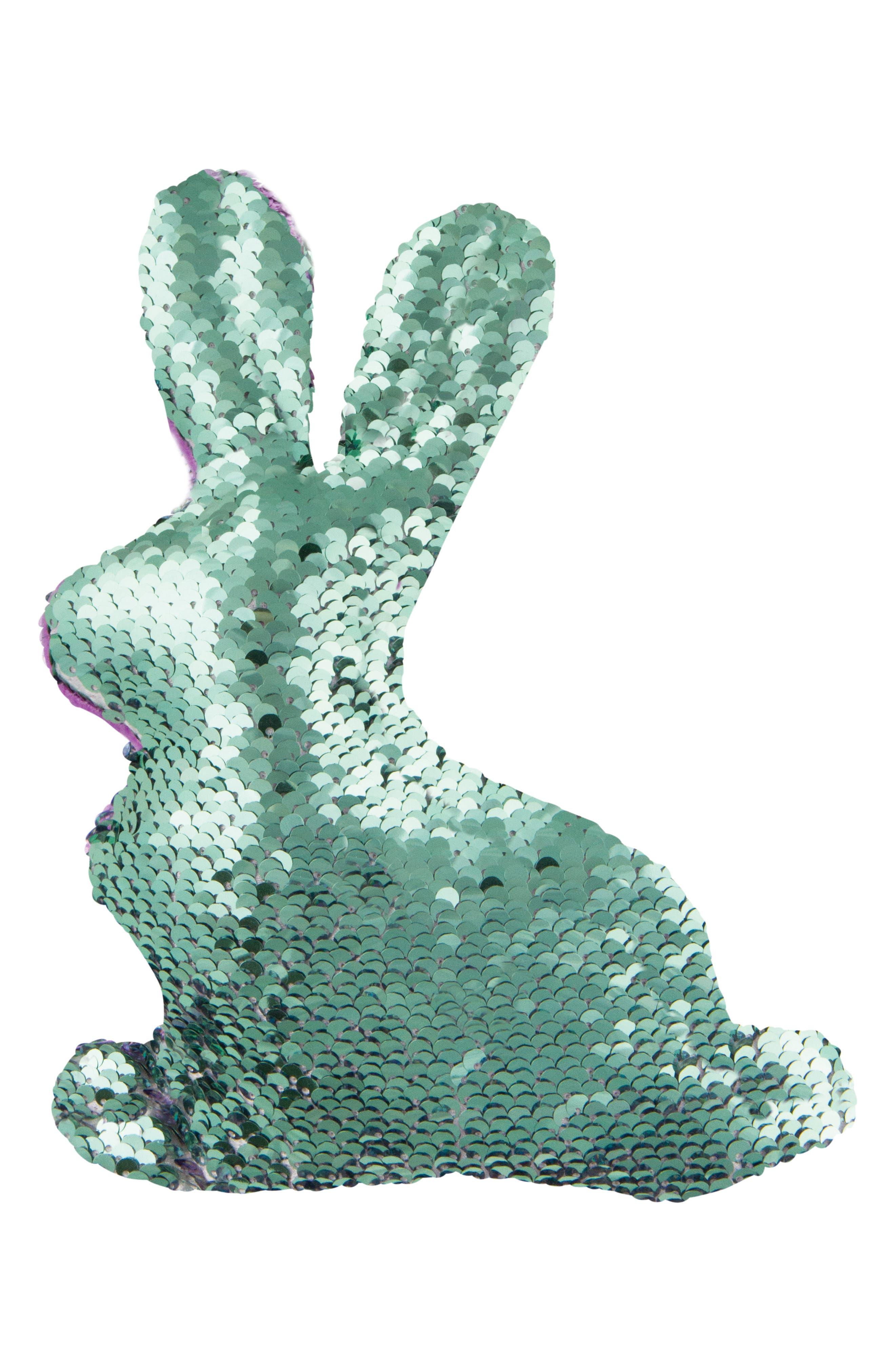 FASHION ANGELS, Magic Sequin Bunny Stuffed Animal, Alternate thumbnail 4, color, PURPLE