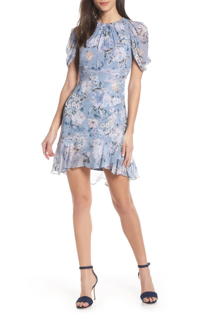 Ever New SPRINGTIME CHIFFON MINIDRESS