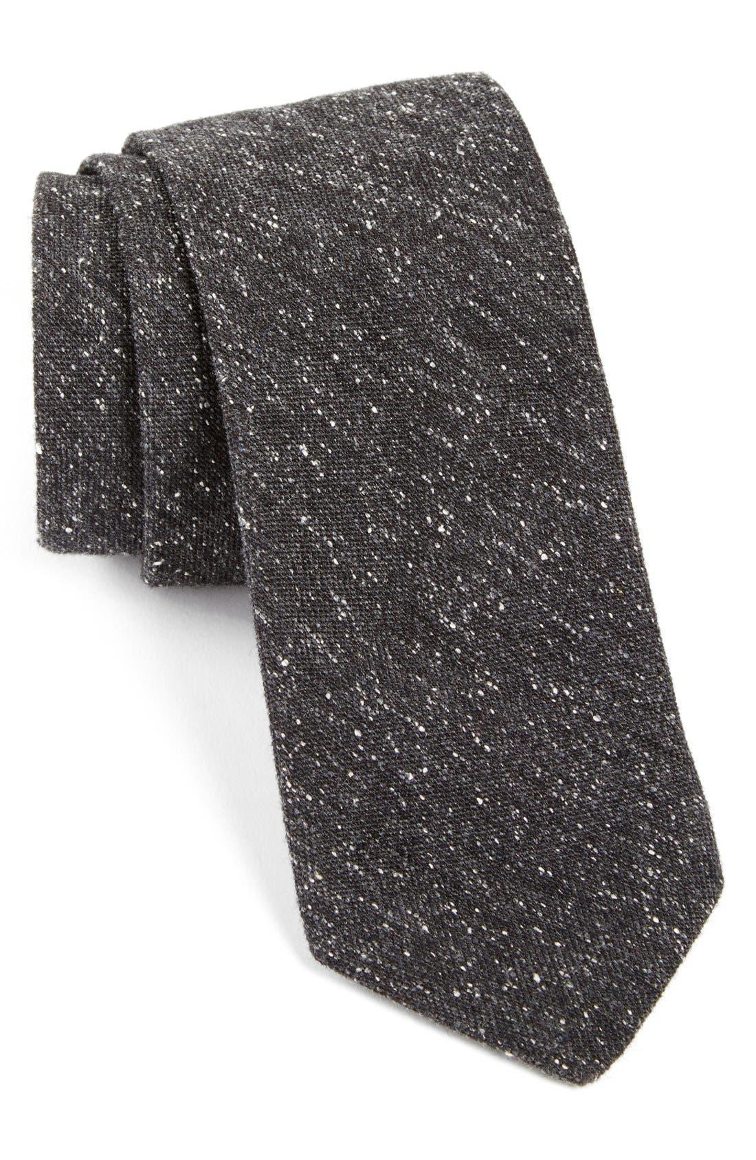 TODD SNYDER WHITE LABEL Solid Cotton Tie, Main, color, 001