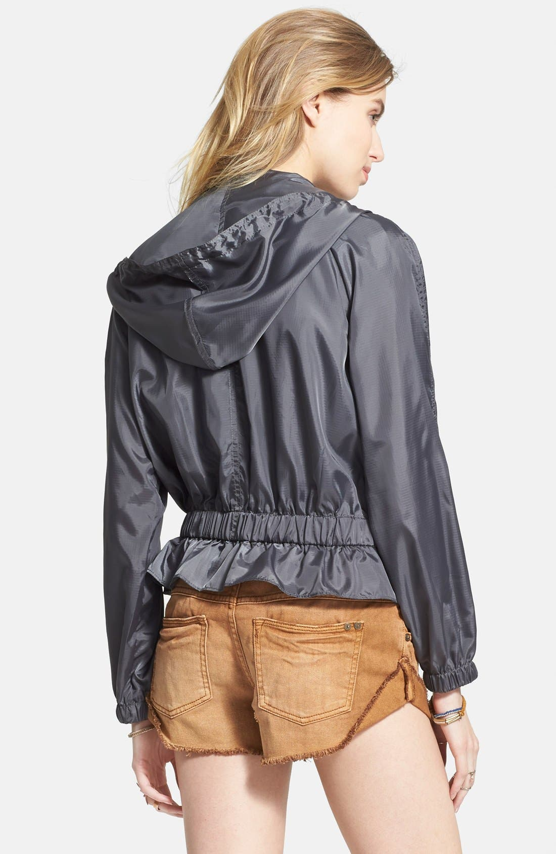 FREE PEOPLE, Ripstop Tech Jacket, Alternate thumbnail 3, color, 020