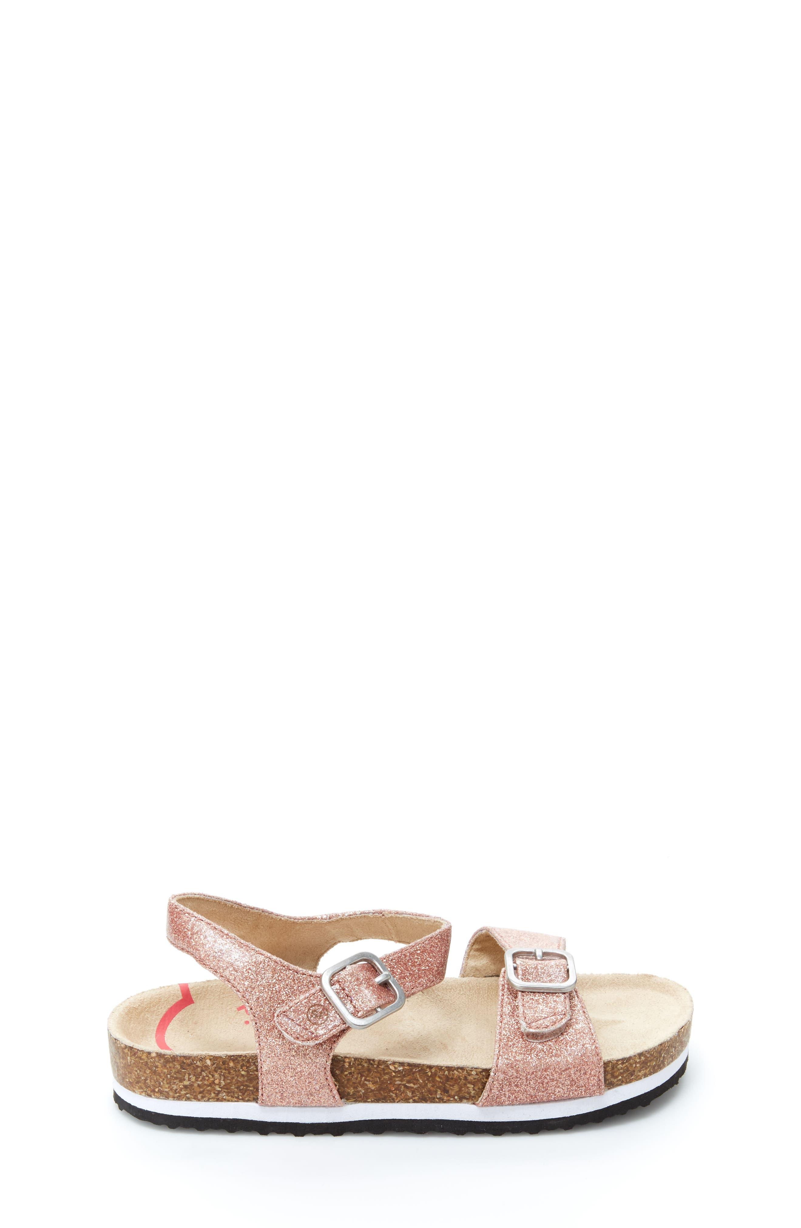 STRIDE RITE, Zuly Glitter Sandal, Alternate thumbnail 2, color, ROSE GOLD