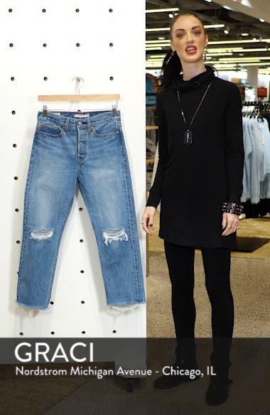 Wedgie High Waist Ripped Crop Straight Leg Jeans, sales video thumbnail