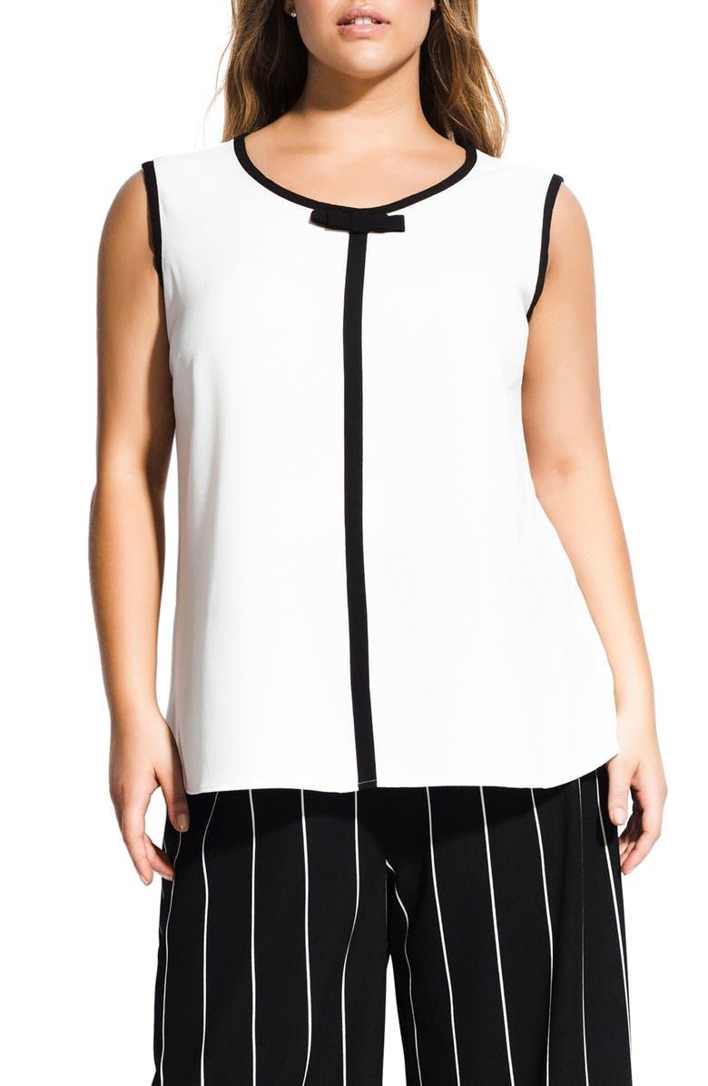 City Chic  TOP BOW SLEEVELESS TOP