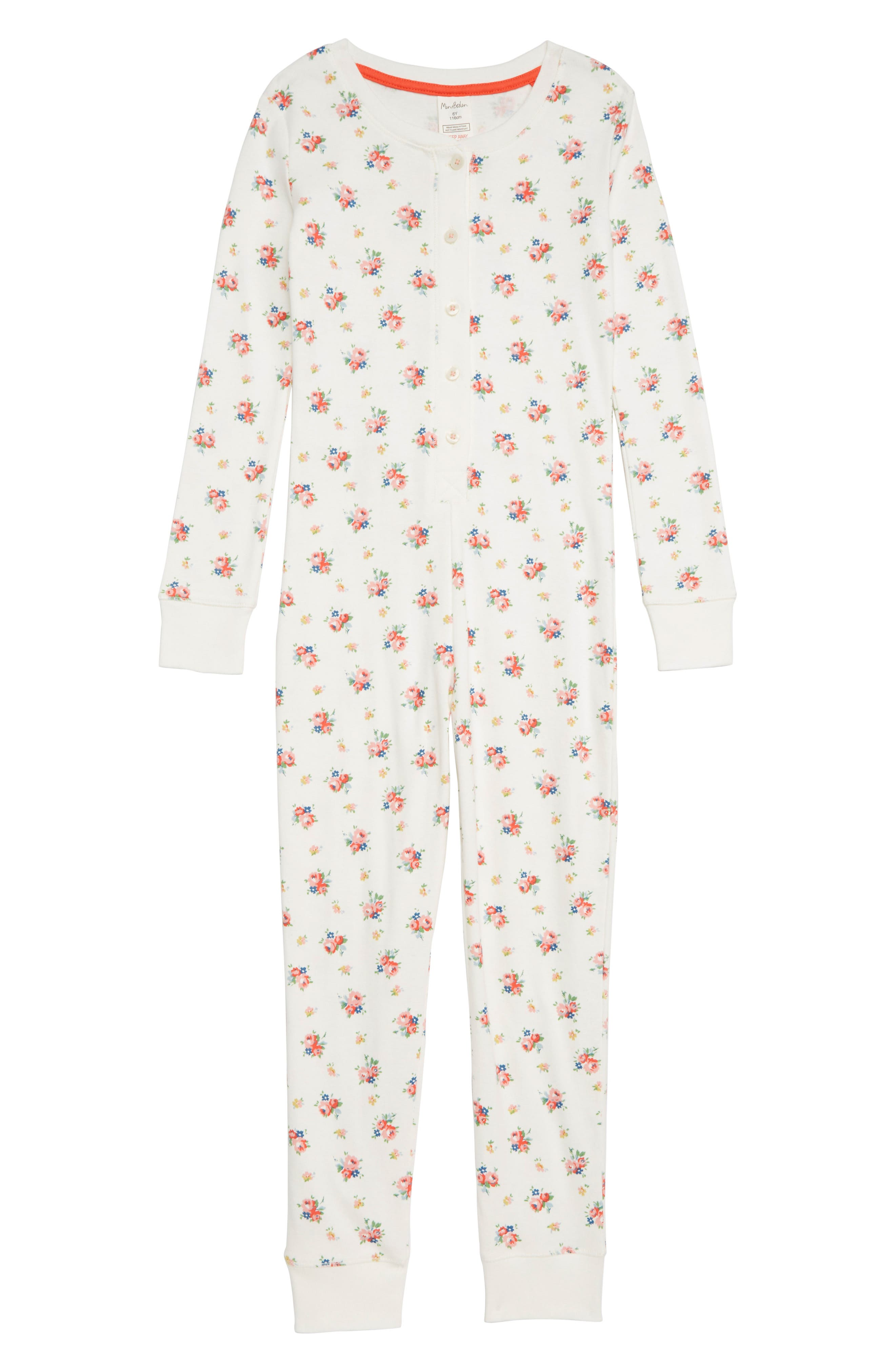 Girls Mini Boden Fitted Cosy All In One Pajamas Size 4Y  Pink