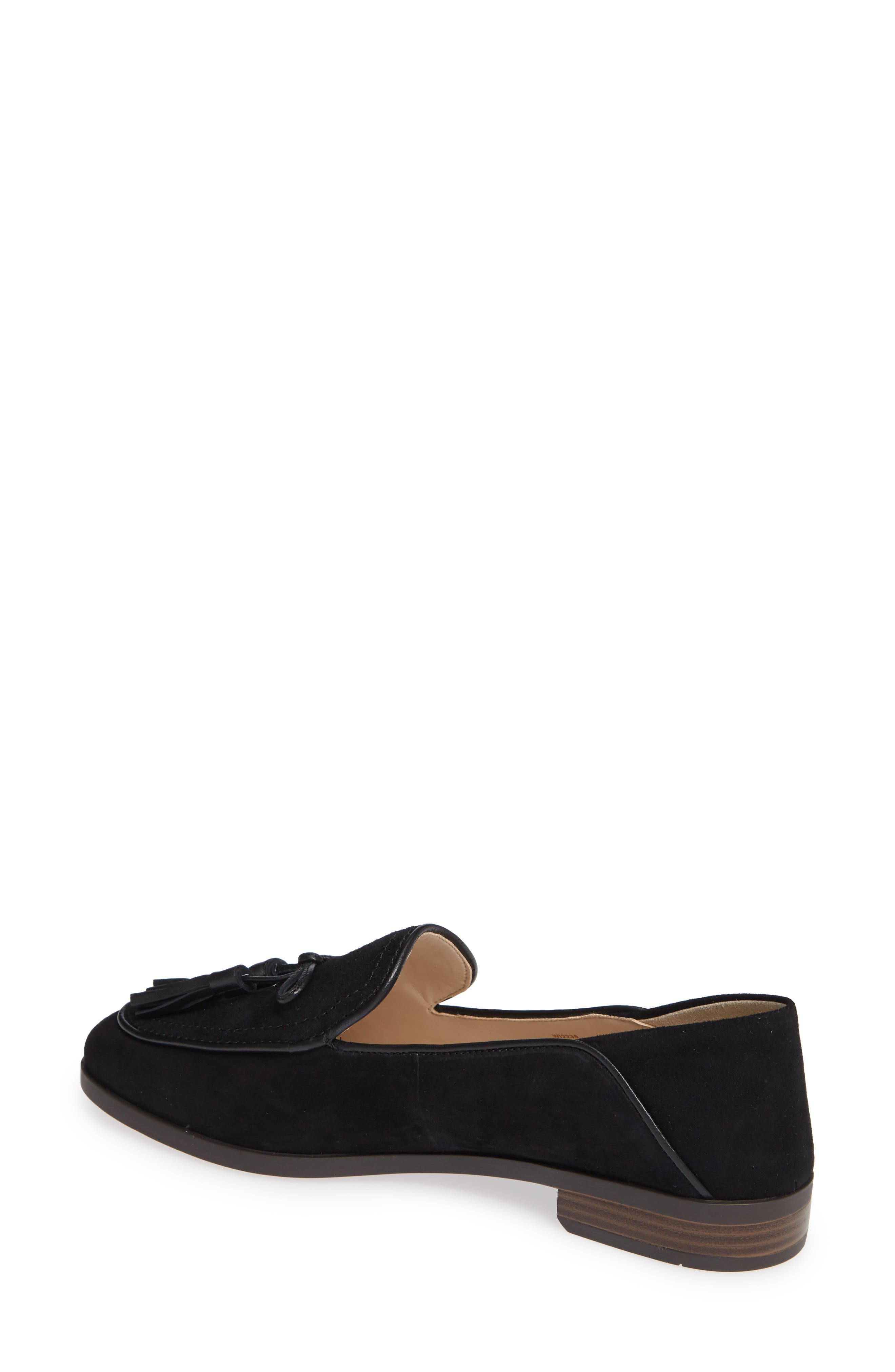 COLE HAAN, Gabrielle Loafer, Alternate thumbnail 2, color, BLACK SUEDE