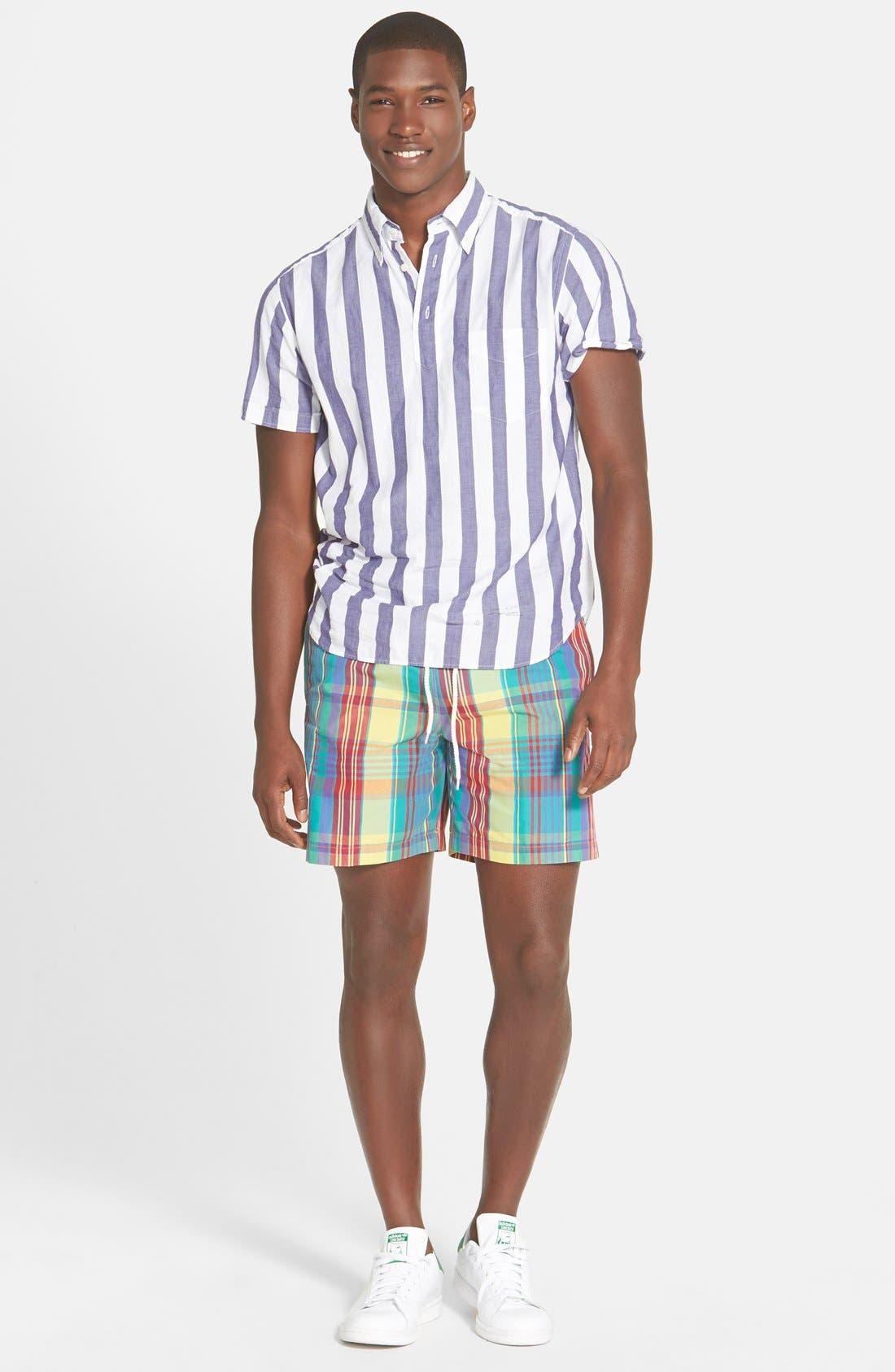 GANT RUGGER, E-Z Fit Madras Stripe Woven Pullover Shirt, Alternate thumbnail 2, color, 436