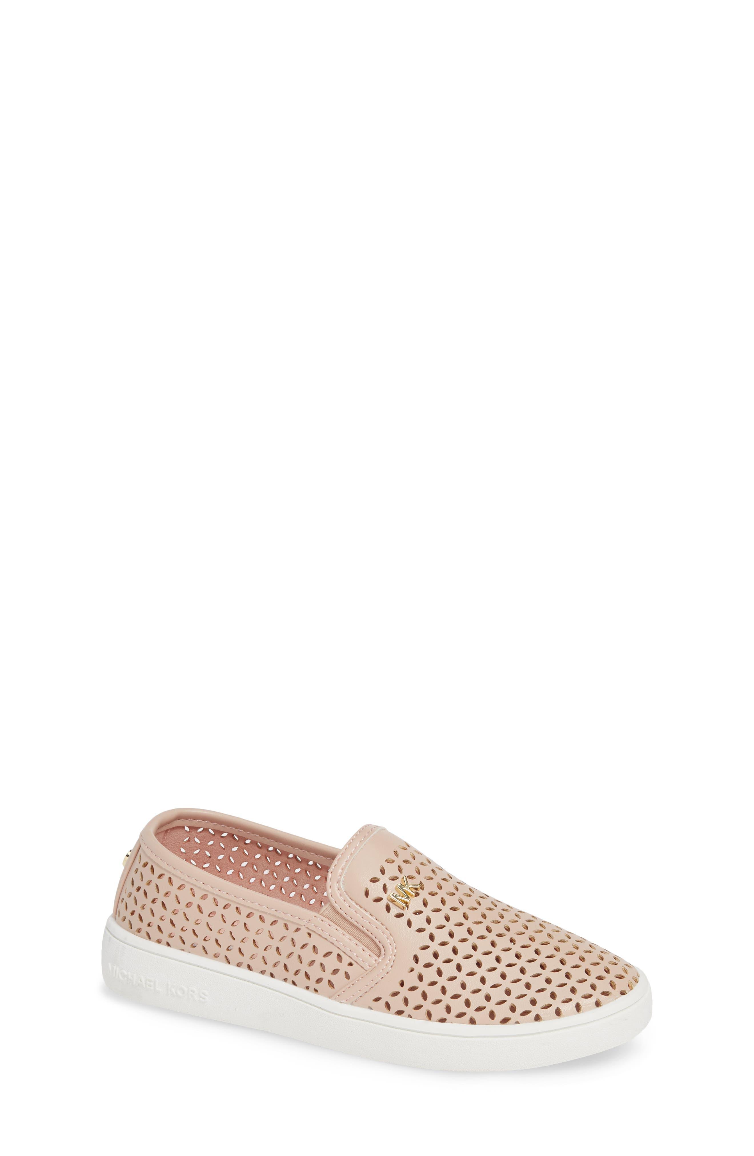 Toddler Girls Michael Michael Kors Jem Olivia Perforated SlipOn Sneaker Size 8 M  Pink