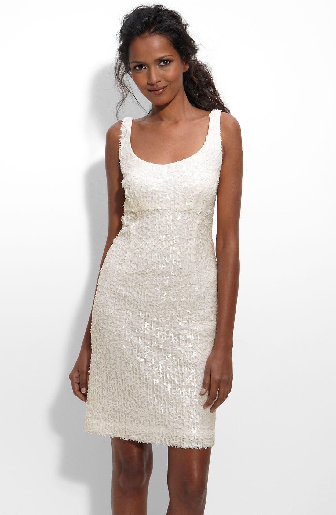 SUZI CHIN FOR MAGGY BOUTIQUE, Paillette Sheath Dress, Main thumbnail 1, color, 900