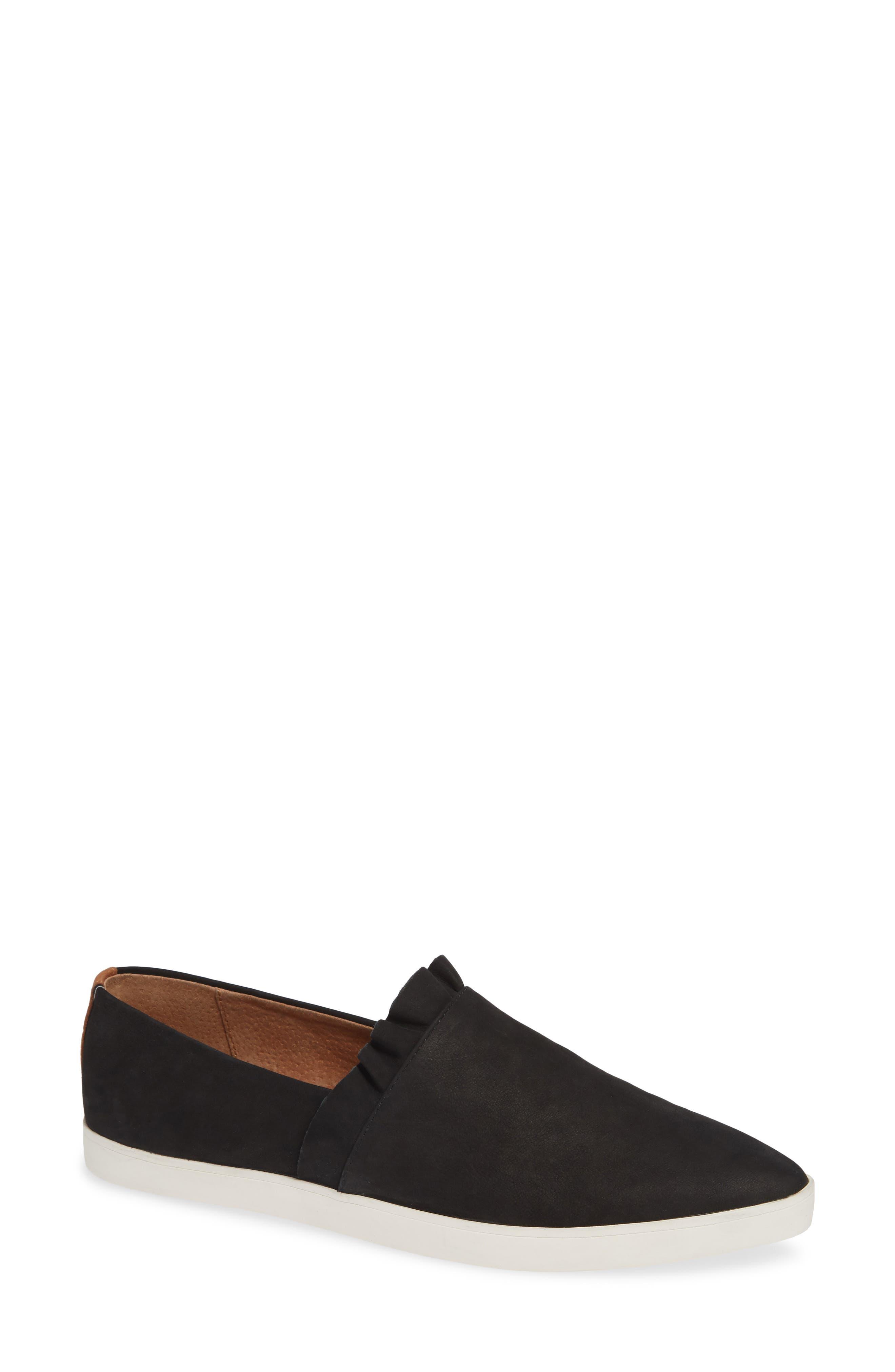 GENTLE SOULS BY KENNETH COLE Gentle Souls Avery Slip-On Sneaker, Main, color, BLACK NUBUCK