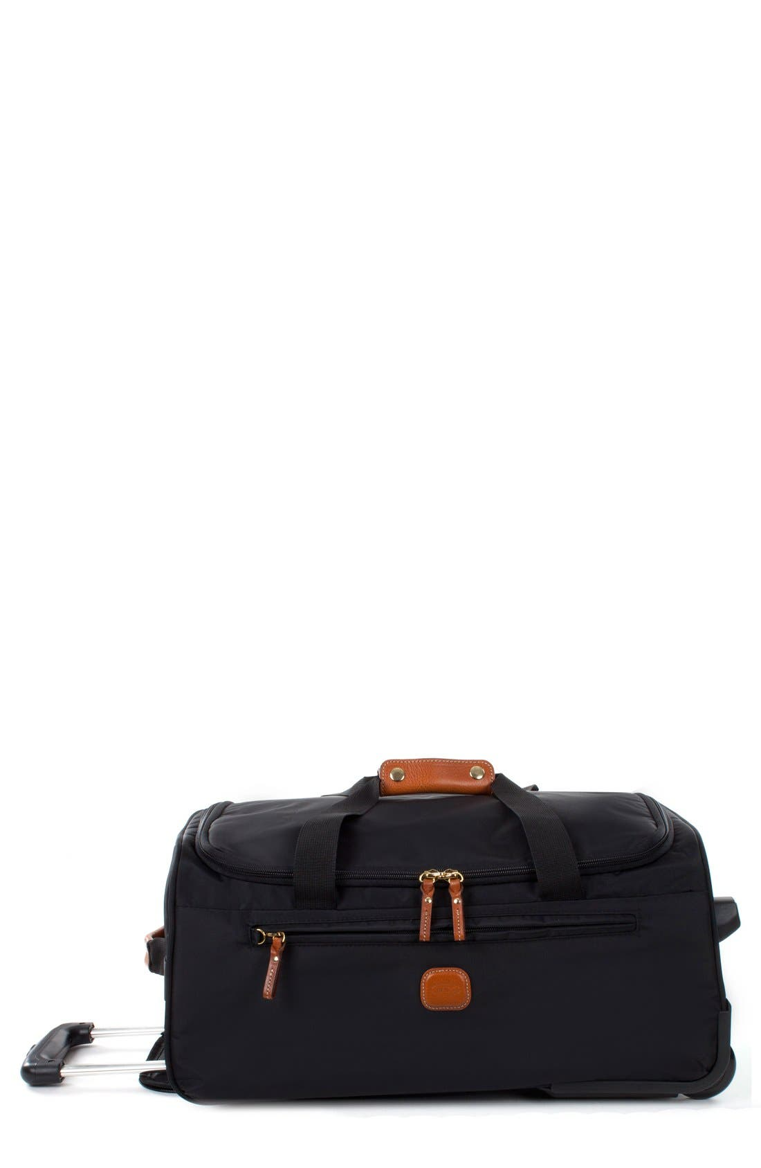 BRIC'S Brics X-Bag 21-Inch Rolling Carry-On Duffle Bag, Main, color, BLACK