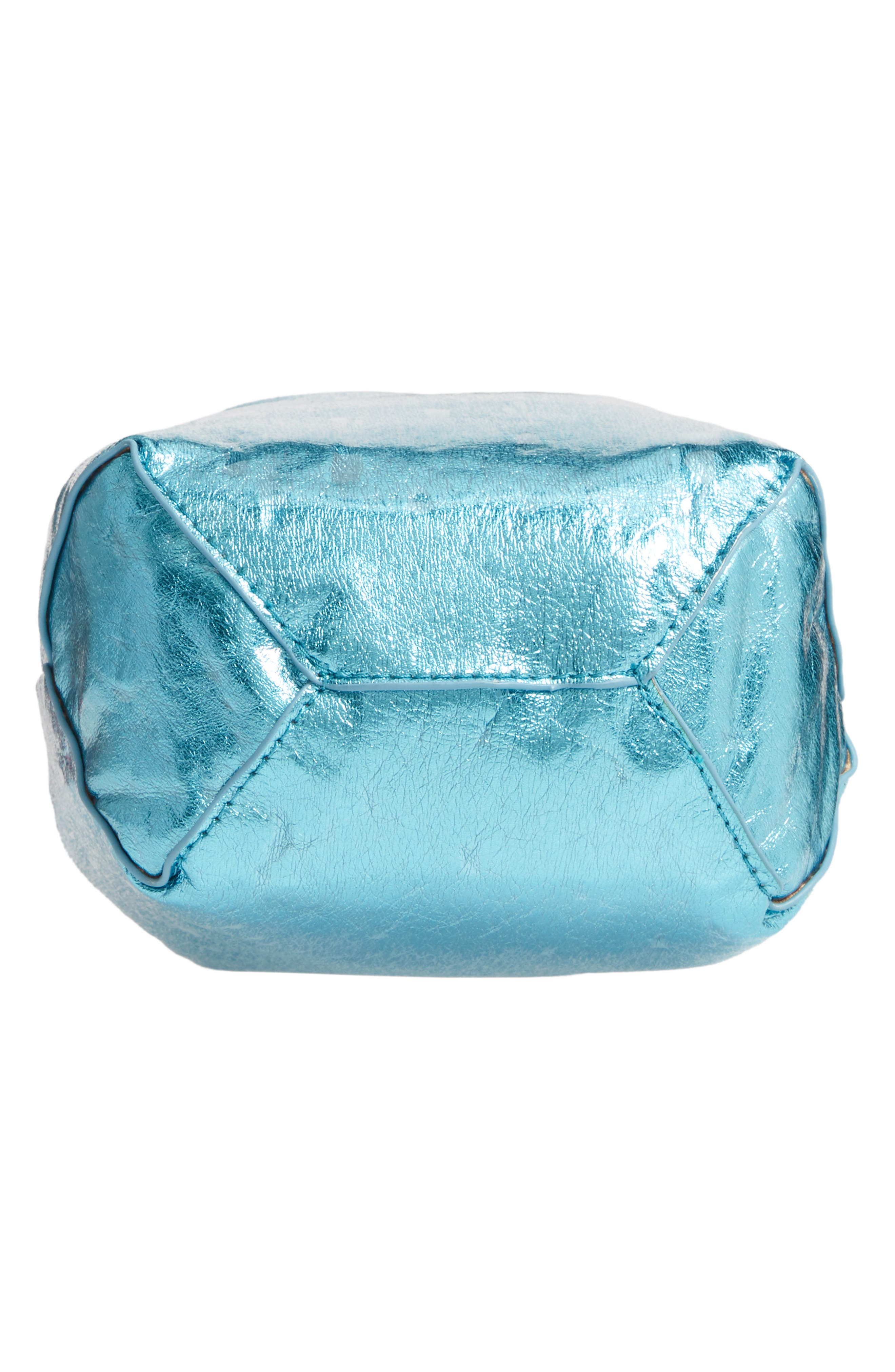 LEITH, Mini Slouch Drawstring Bag, Alternate thumbnail 7, color, BLUE METALLIC