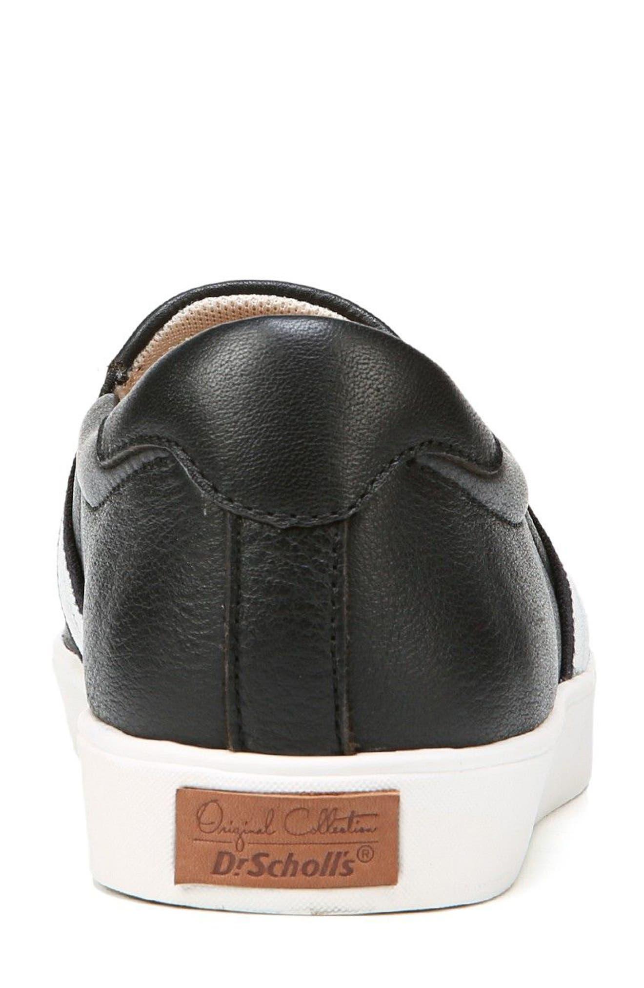 DR. SCHOLL'S, Scout Slip-On Sneaker, Alternate thumbnail 7, color, BLACK LEATHER 2
