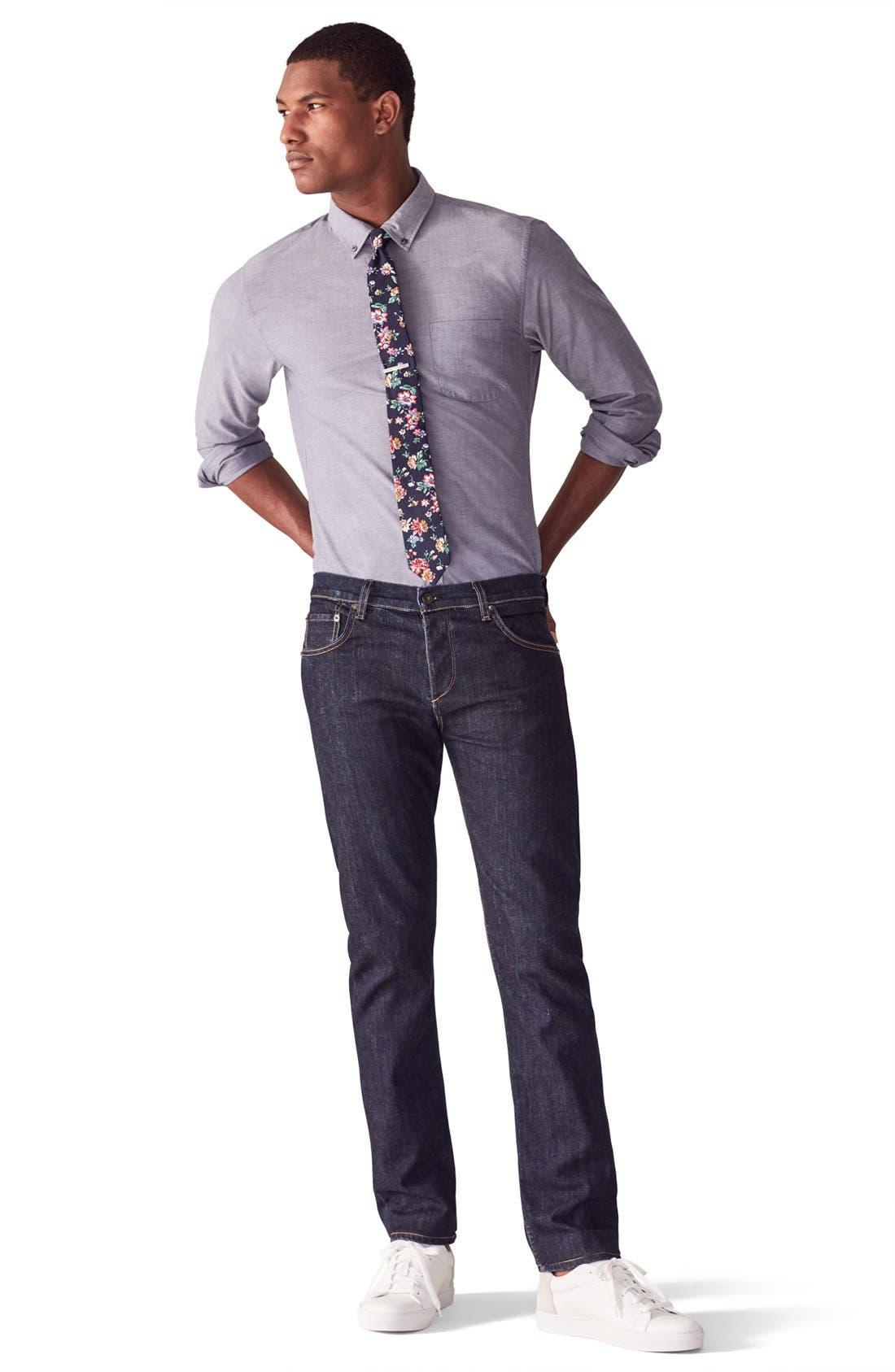 RAG & BONE, Standard Issue Fit 3 Slim Straight Leg Jeans, Alternate thumbnail 12, color, HERITAGE