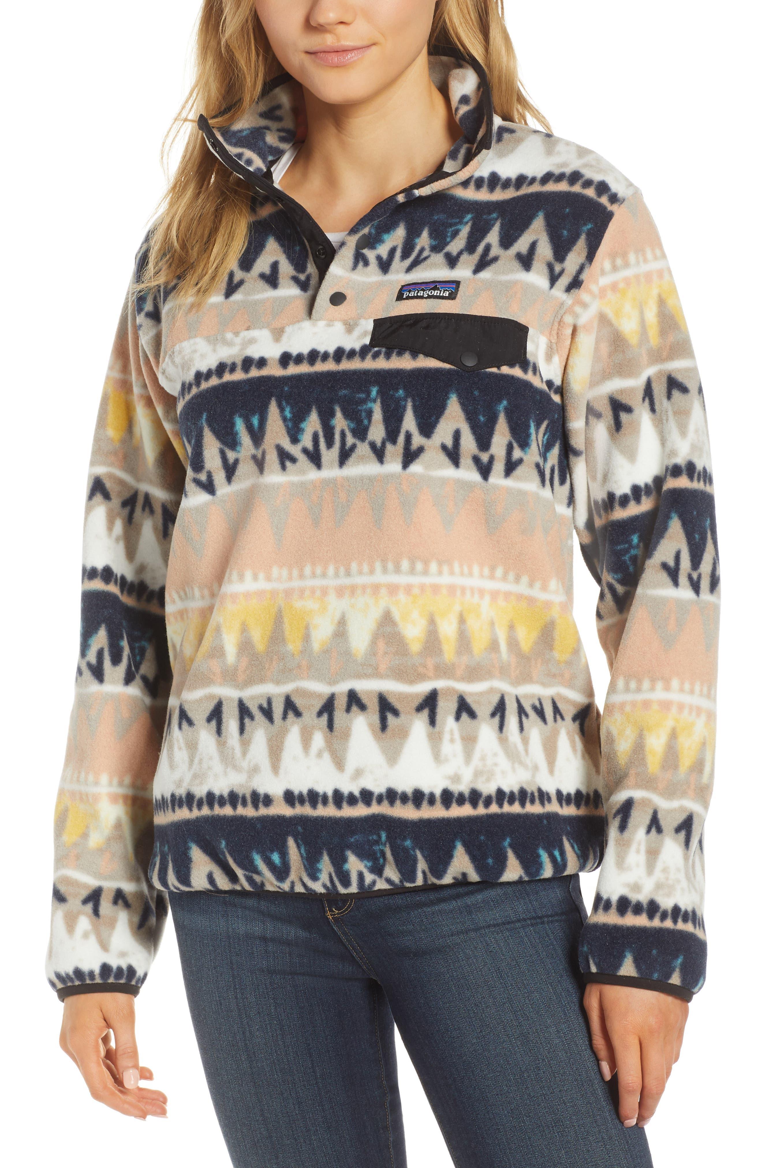 PATAGONIA, Synchilla Snap-T<sup>®</sup> Fleece Pullover, Main thumbnail 1, color, BANDICOOT/ MARROW GREY