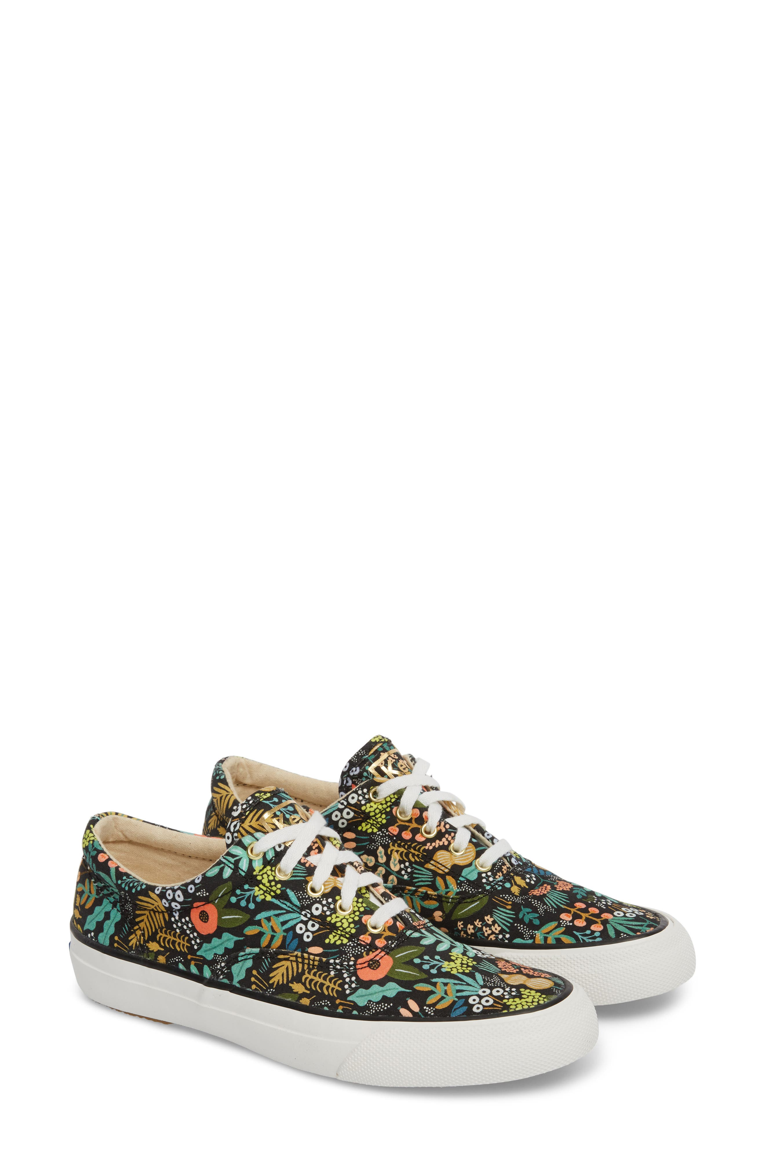 KEDS<SUP>®</SUP>, x Rifle Paper Co. Anchor Lively Floral Slip-On Sneaker, Alternate thumbnail 2, color, BLACK