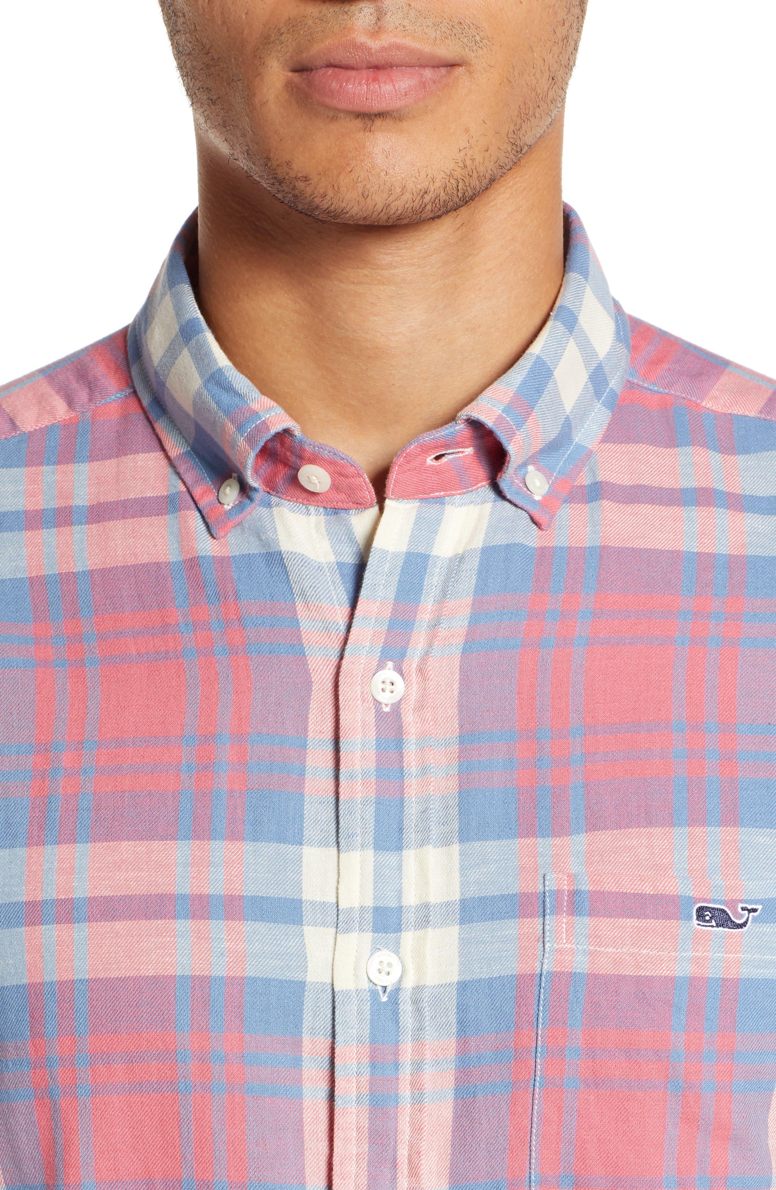 VINEYARD VINES, Kings Point Slim Fit Tucker Sport Shirt, Alternate thumbnail 2, color, LOBSTER REEF