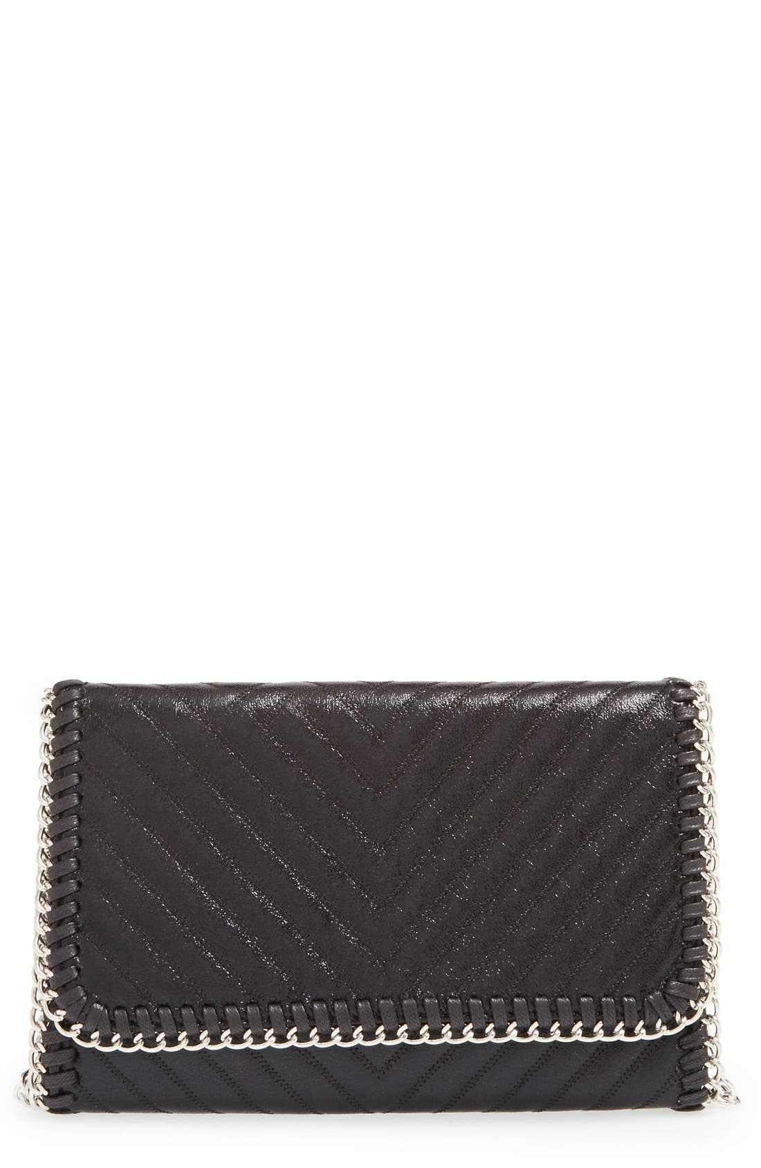 CHELSEA28, Quilted Mini Clutch, Main thumbnail 1, color, 001