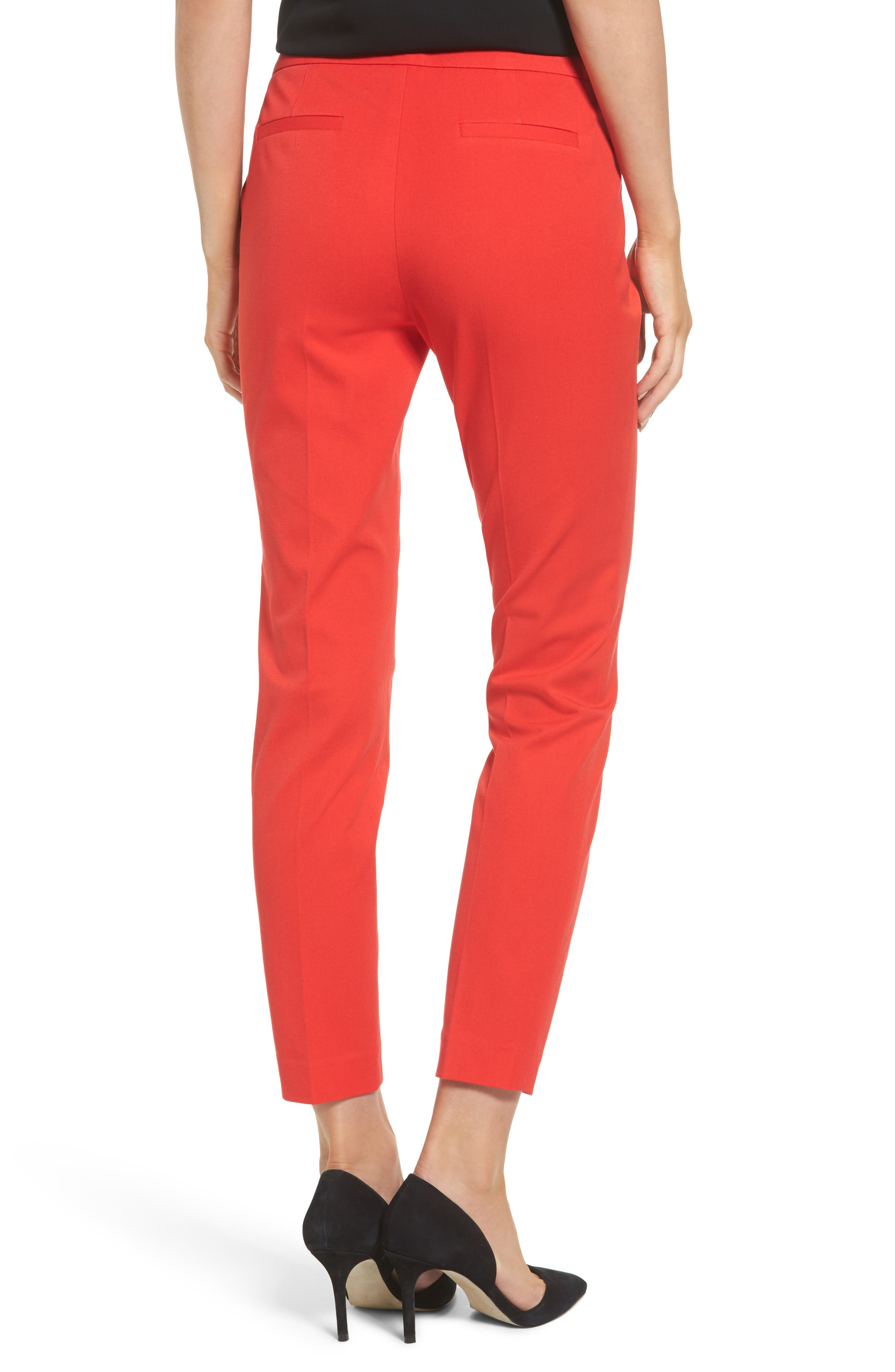 HALOGEN<SUP>®</SUP>, Ankle Pants, Alternate thumbnail 2, color, RED BLOOM