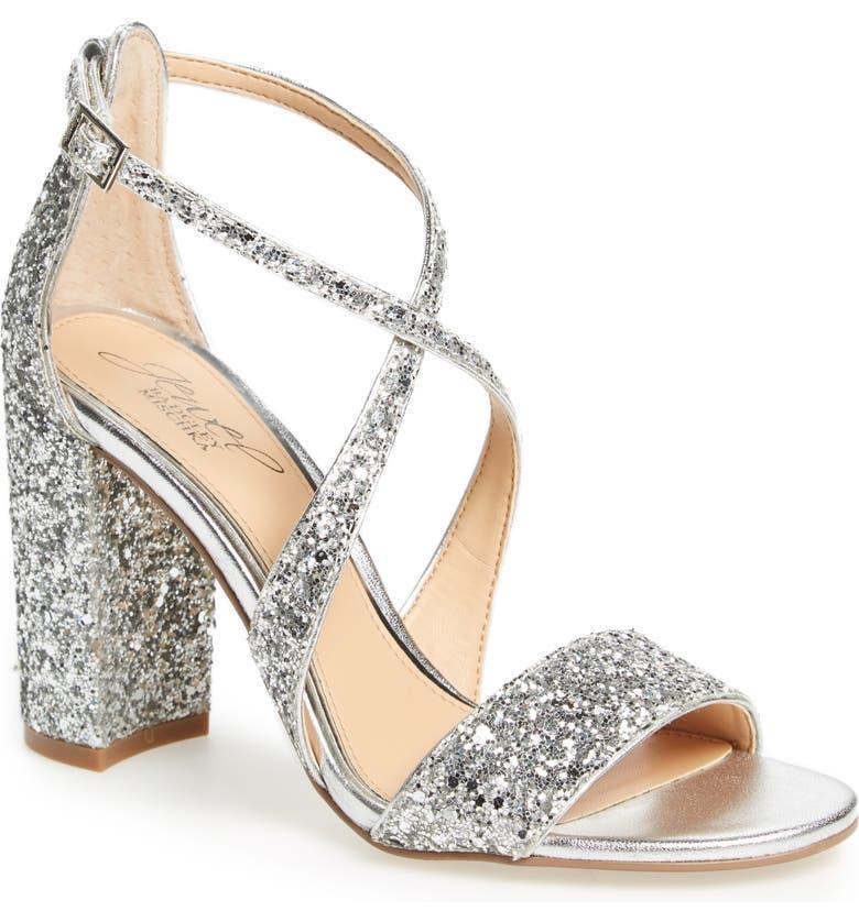 0dd6c3b5e7a Jewel Badgley Mischka Cook Block Heel Glitter Sandal (Women)