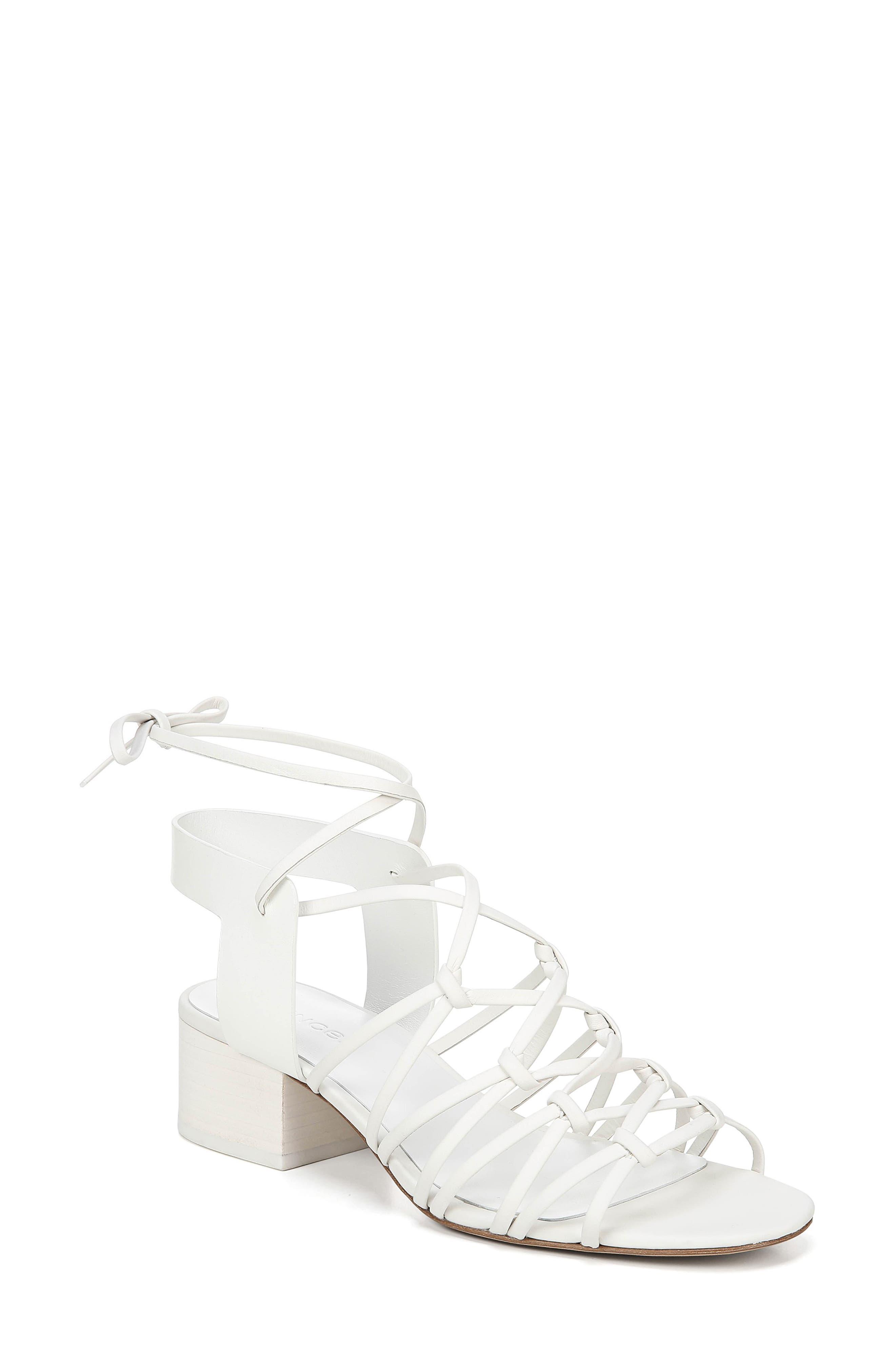 Vince Beautmont Lace-Up Sandal, White