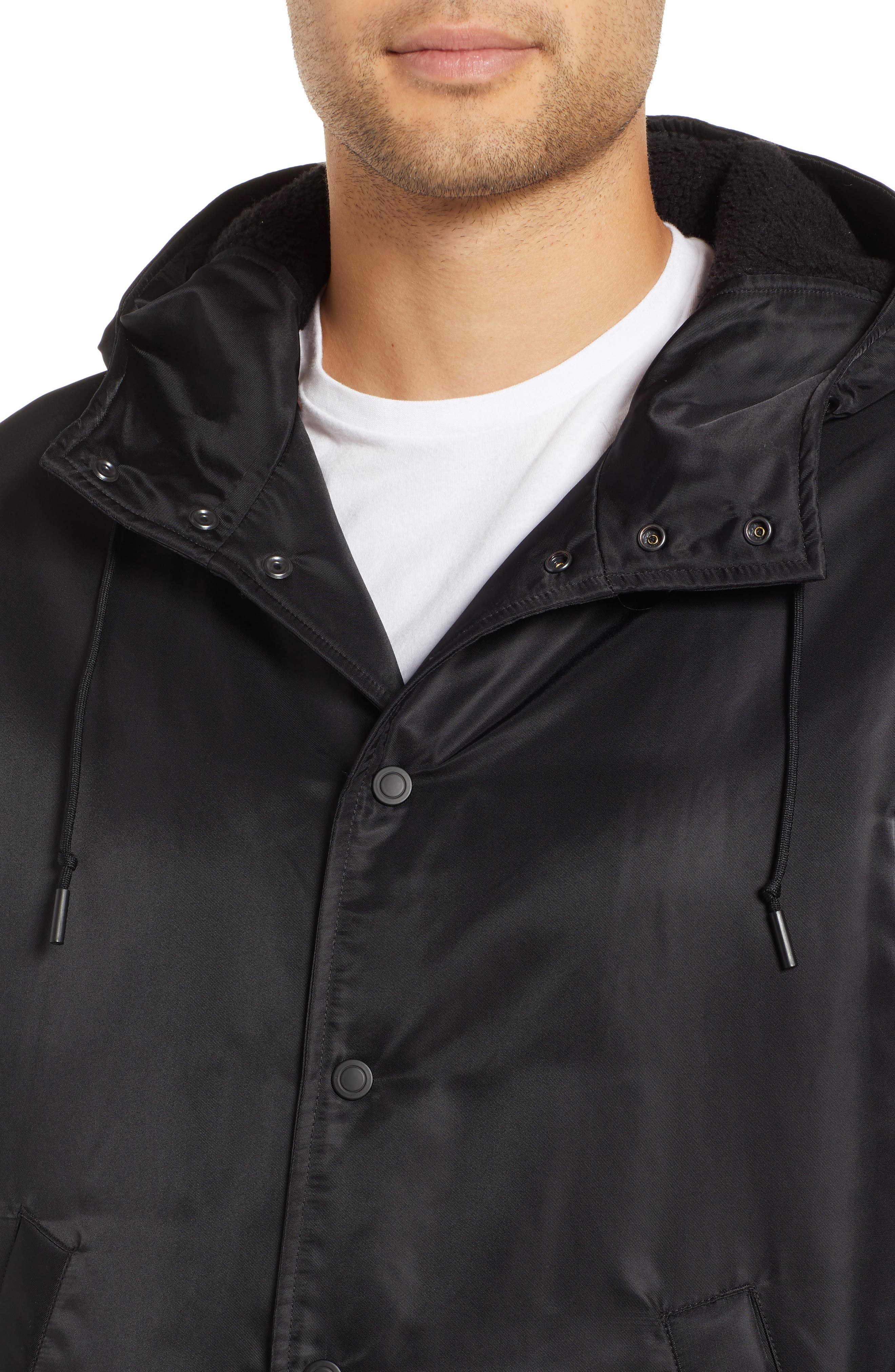 REIGNING CHAMP, Water Resistant Insulated Parka, Alternate thumbnail 5, color, 001