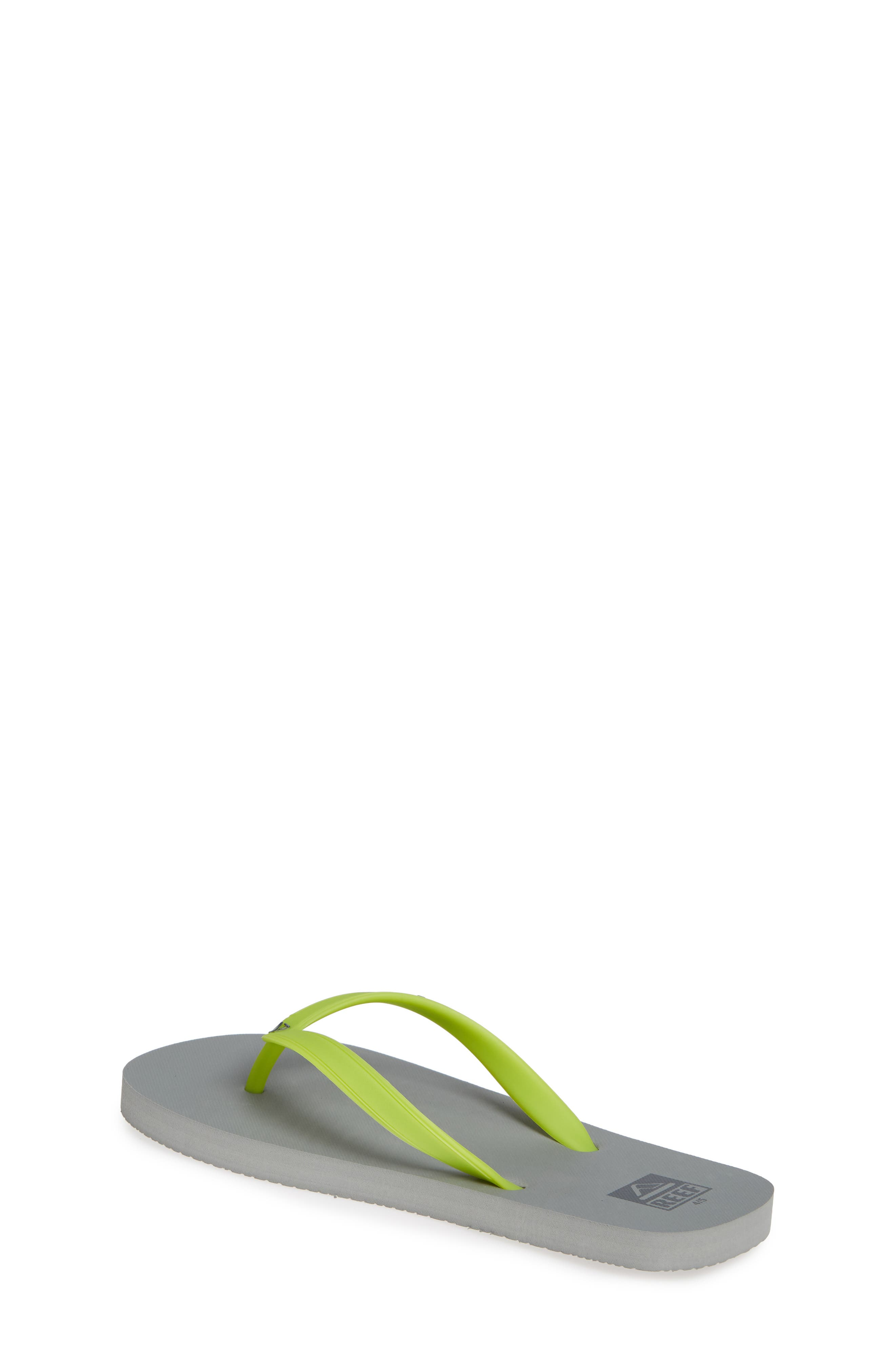 REEF, Switchfoot Flip Flop, Alternate thumbnail 2, color, GREY/ GREEN