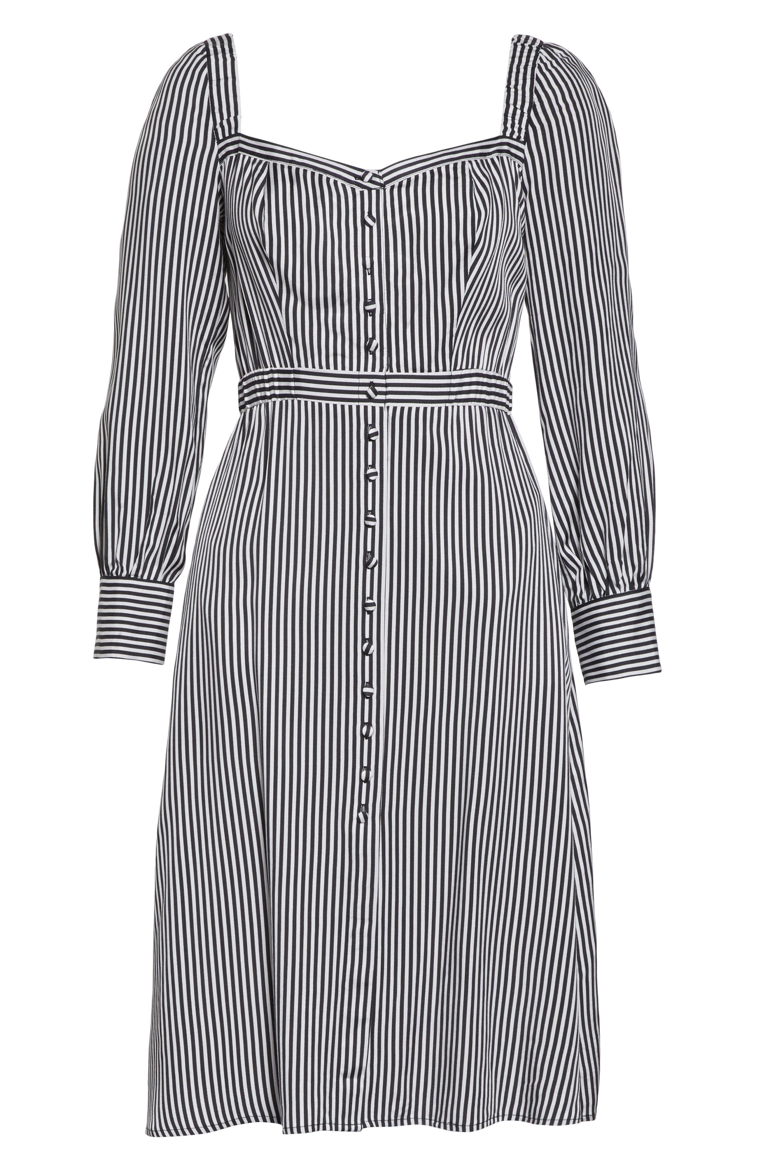 ALI & JAY, Take Me Downtown Stripe Dress, Alternate thumbnail 7, color, 001