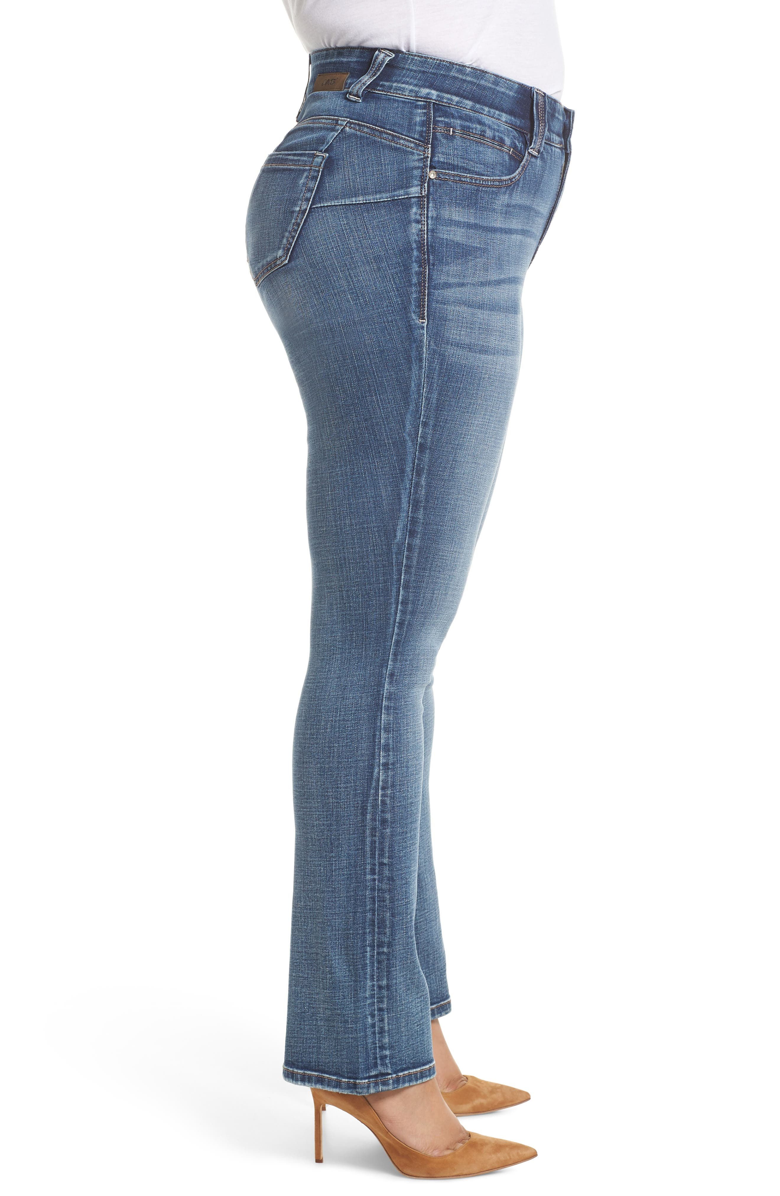 JAG JEANS, Eloise Bootcut Stretch Jeans, Alternate thumbnail 4, color, MED INDIGO