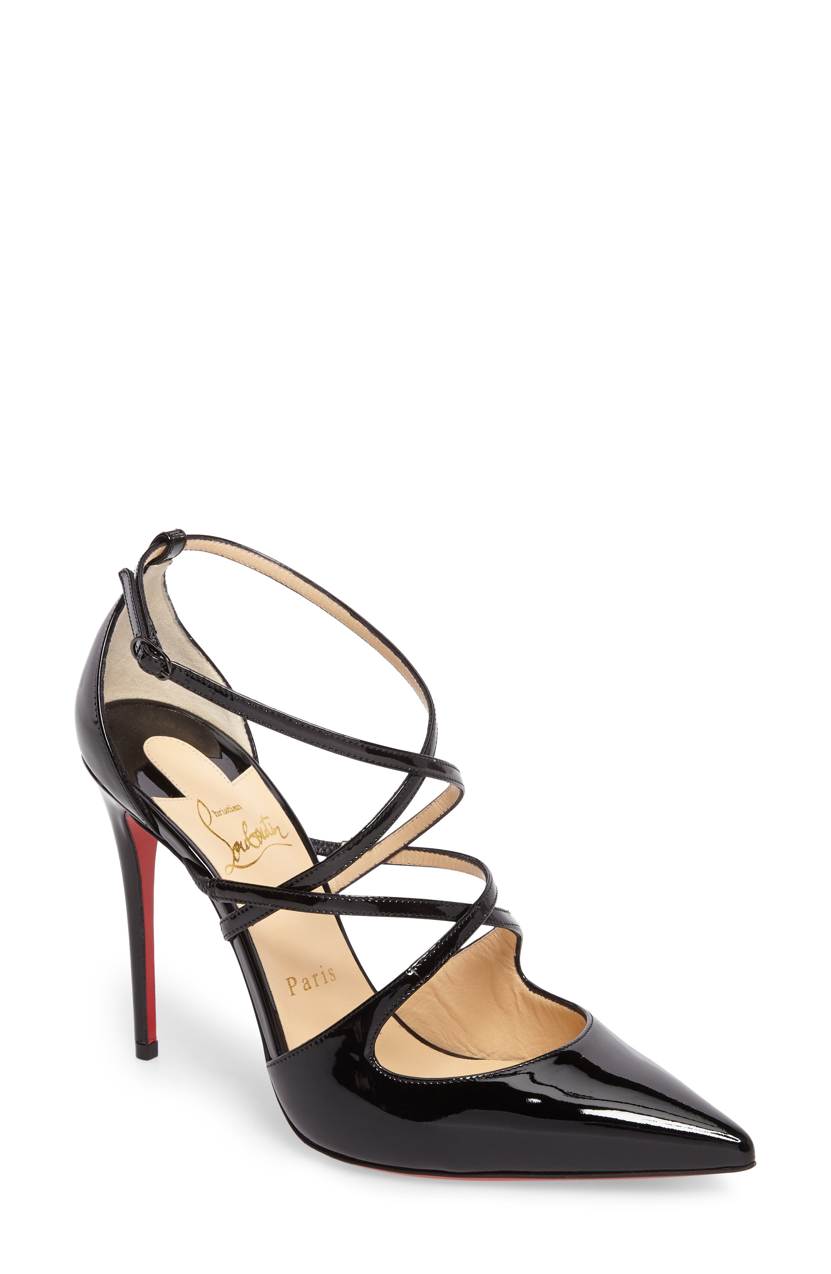 CHRISTIAN LOUBOUTIN, Crossfliketa Pump, Main thumbnail 1, color, 001