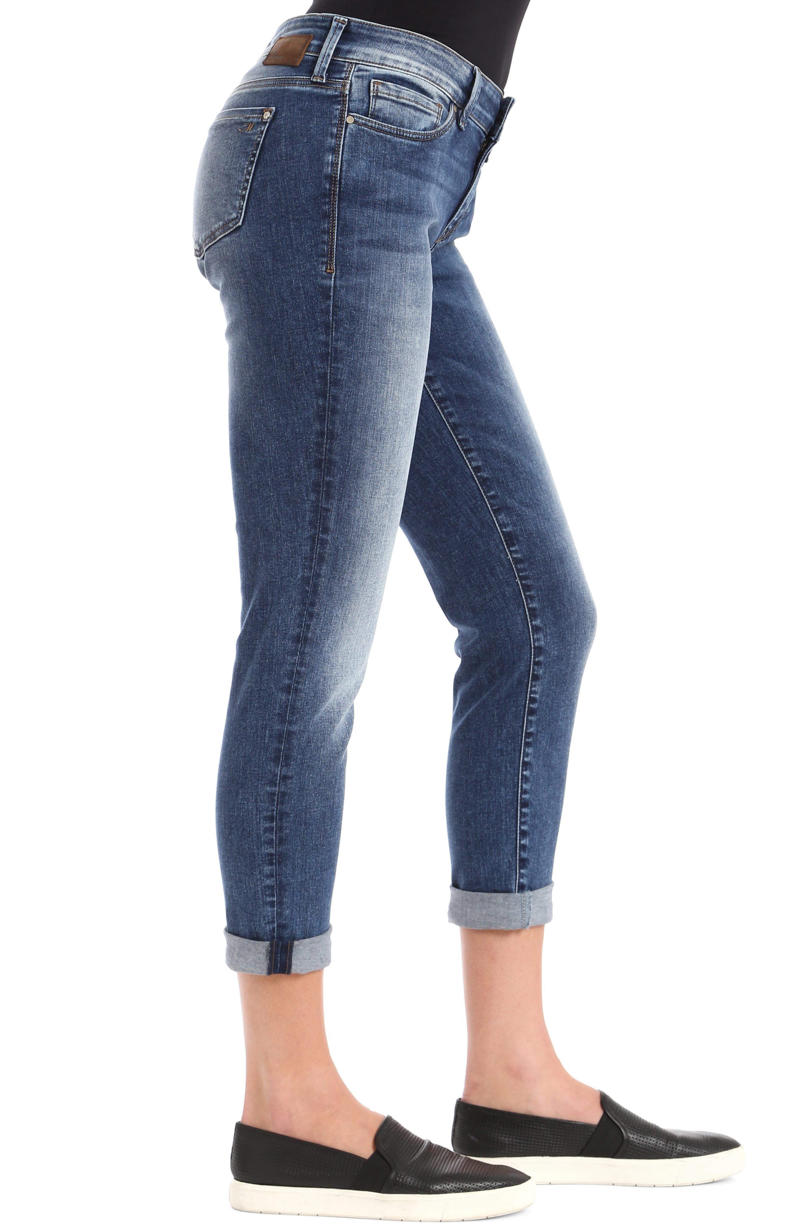 MAVI JEANS, Ada Slim Jeans, Alternate thumbnail 4, color, MID INDIGO TRIBECA