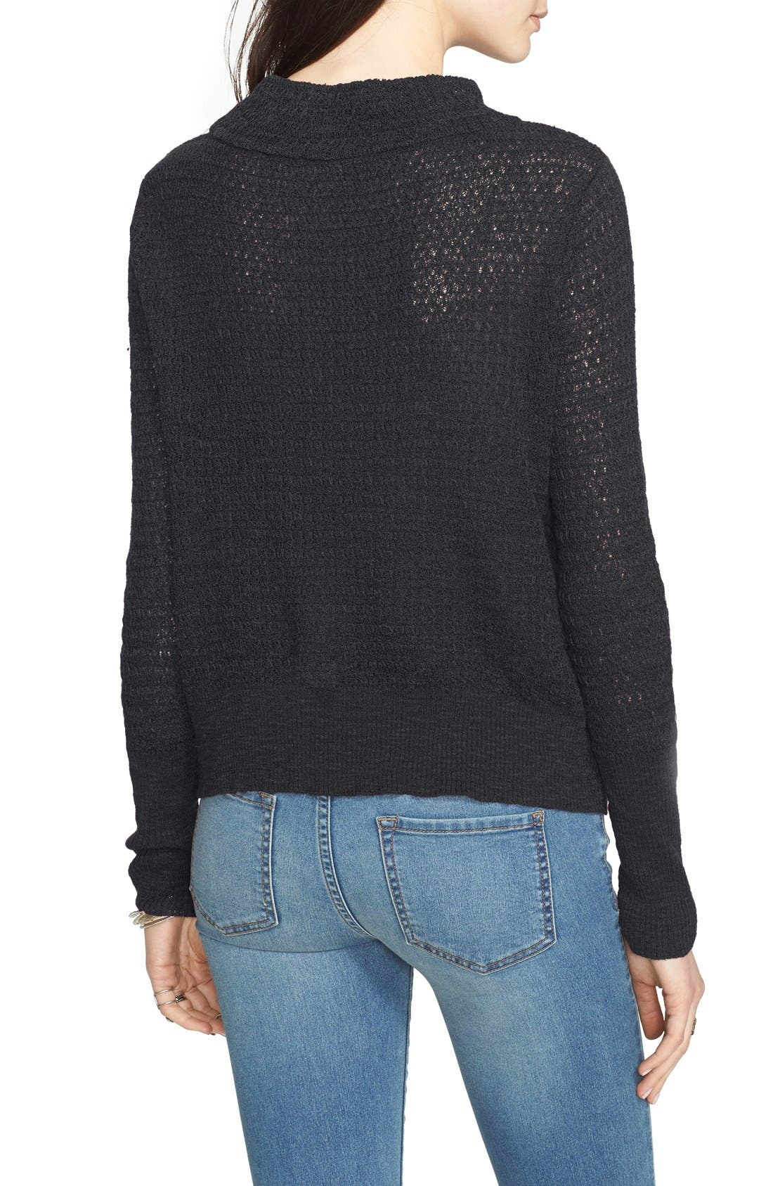 FREE PEOPLE, Crossover Sweater, Alternate thumbnail 5, color, 001